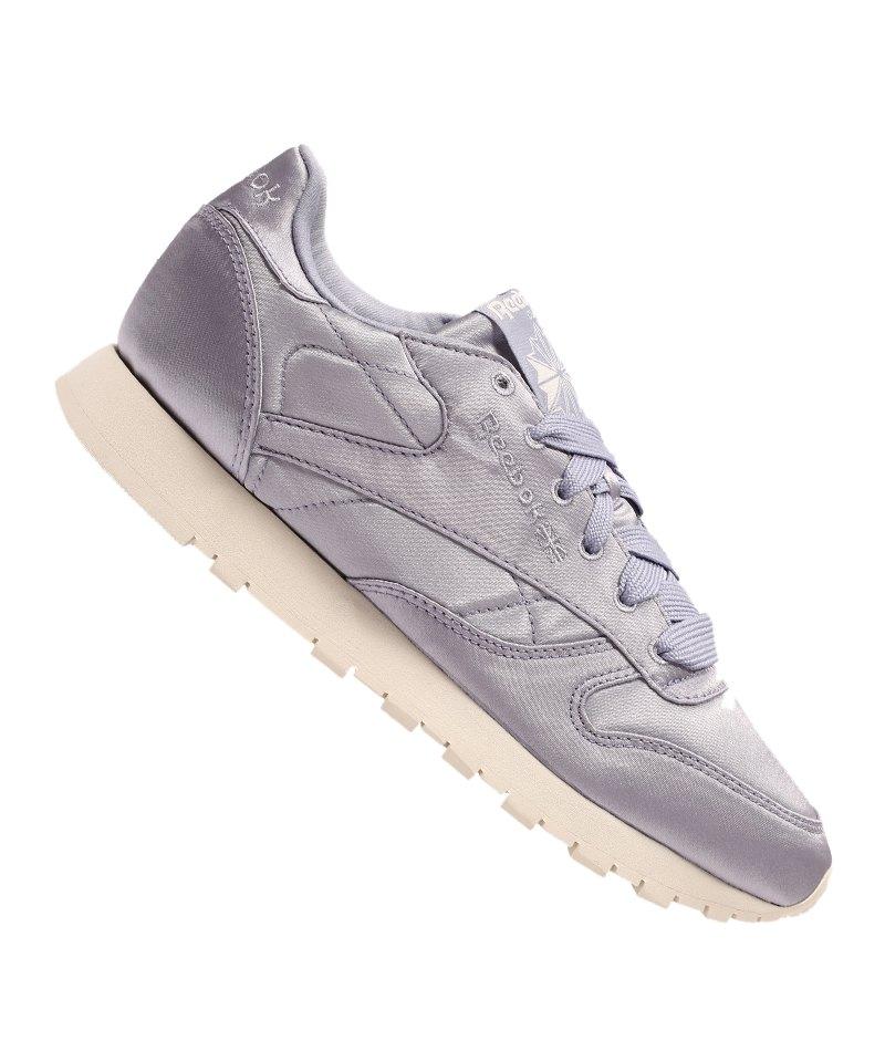Reebok Classic Leather Satin Sneaker Damen Lila - lila