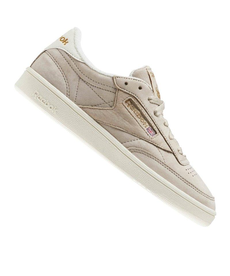 reebok classic club c vintage-sneaker in weiß mit freiburg