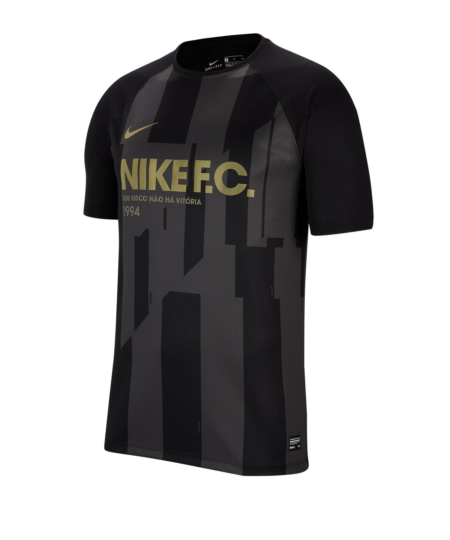 Nike F.C. Trikot kurzarm Schwarz F010 - schwarz