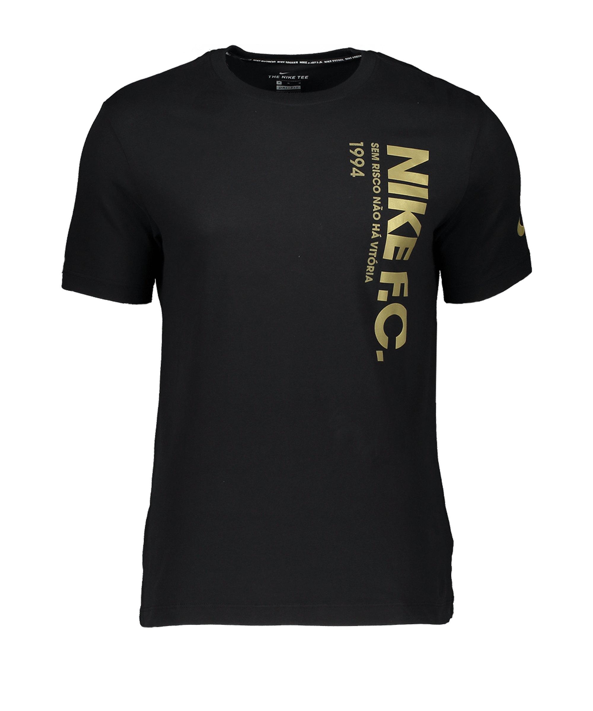 Nike F.C. Tee T-Shirt Schwarz F010 - schwarz