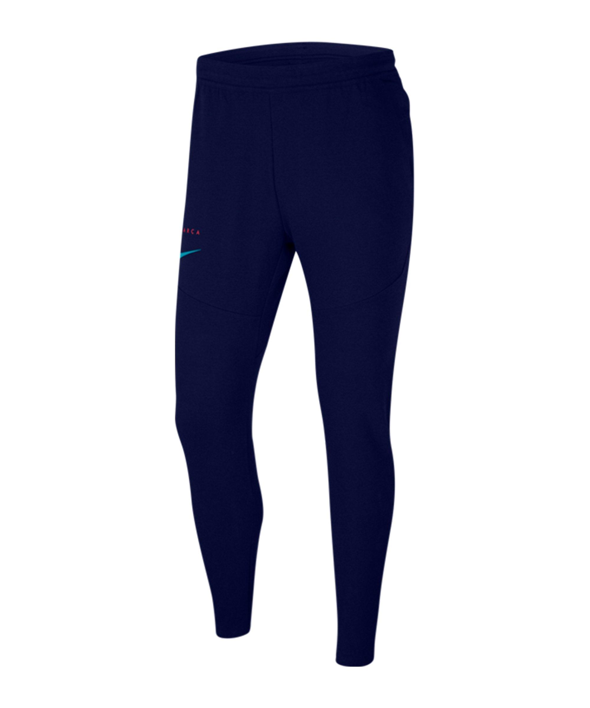 Nike FC Barcelona Tech Pack Jogginghose Blau F492 - blau