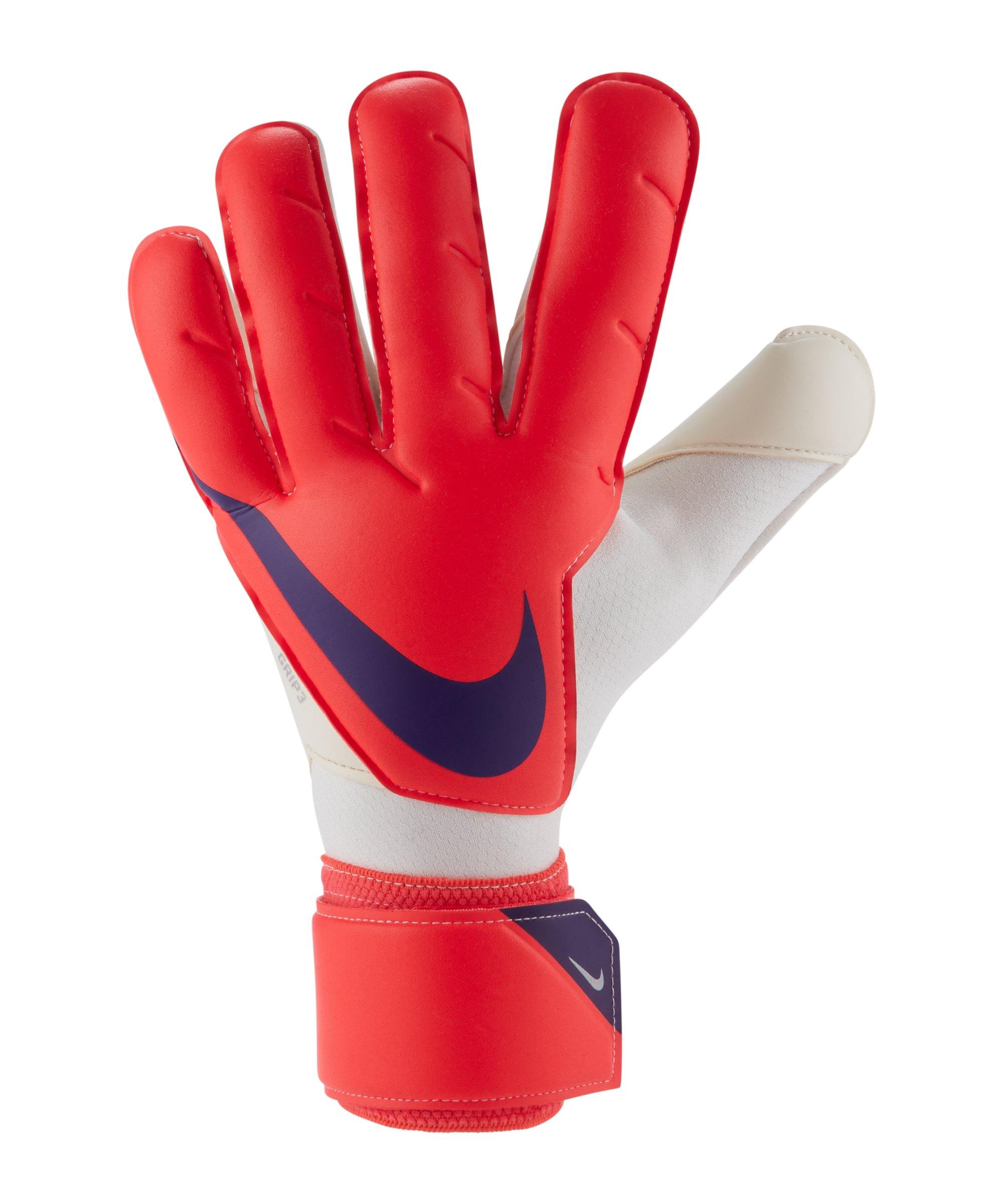 Nike Grip3 Torwarthandschuh Rot Lila F635 - rot
