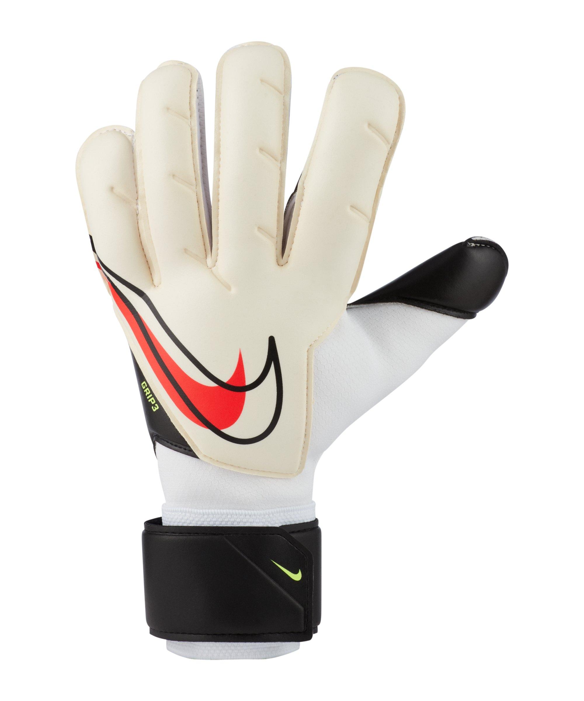 Nike Grip3 Torwarthandschuh Weiss Schwarz Rot F101 - weiss