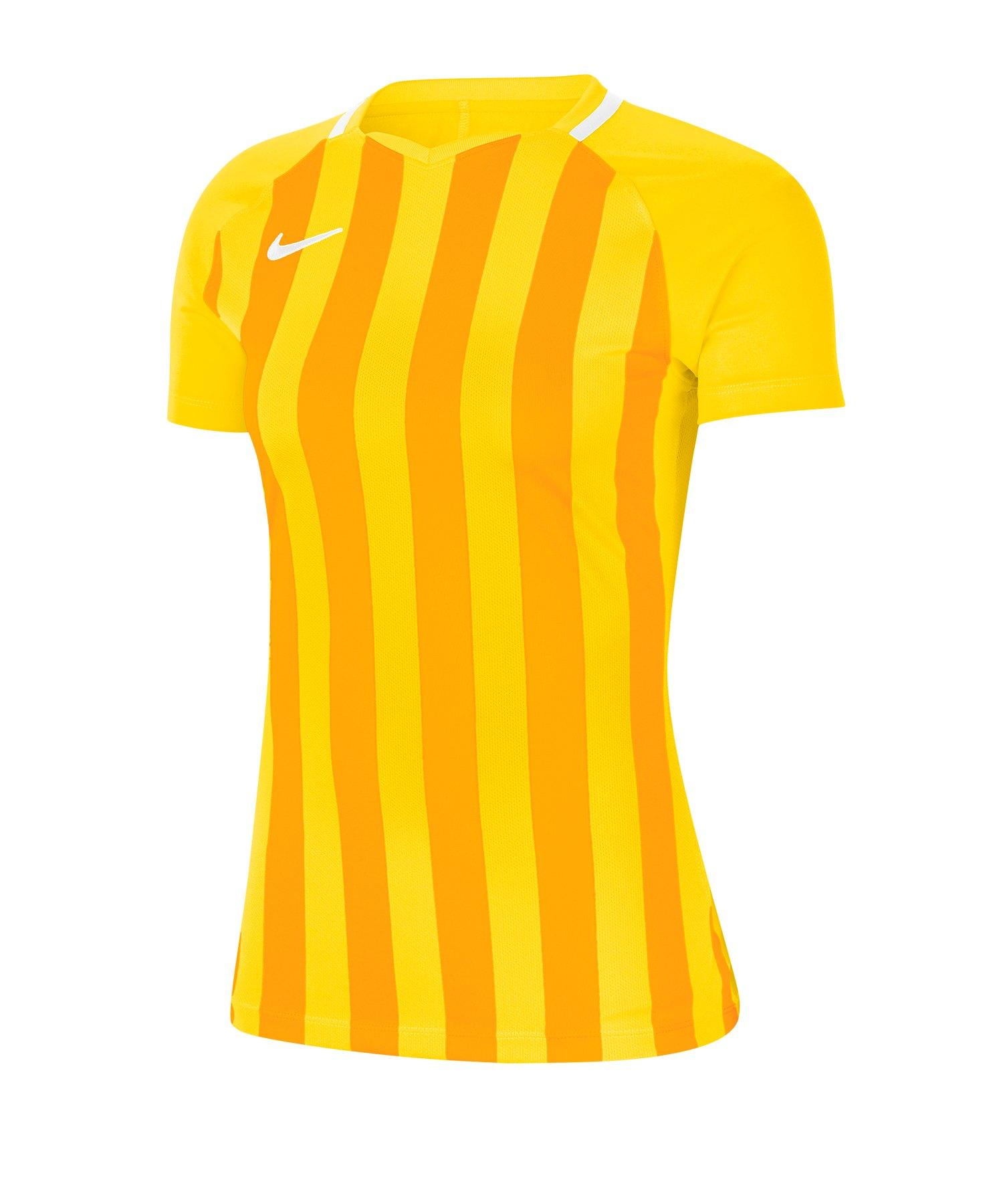 Nike Striped Division III Trikot KA Damen F719 - gelb
