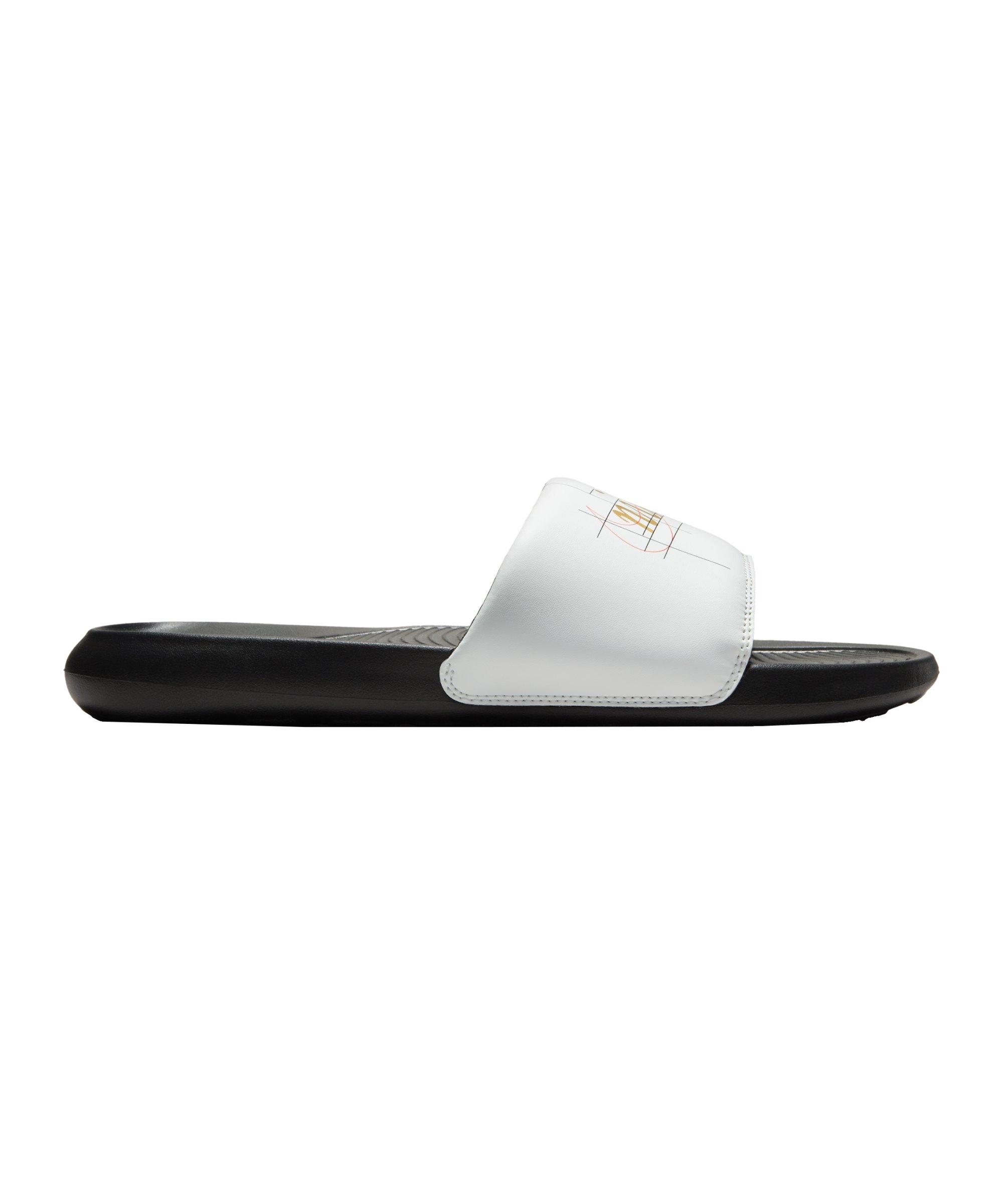 Nike Victori One Print Badelatsche Weiss F103 - weiss
