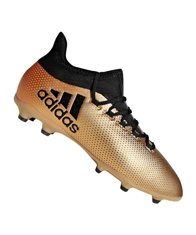 adidas X 17.1 FG J Kids Gold Schwarz - gold