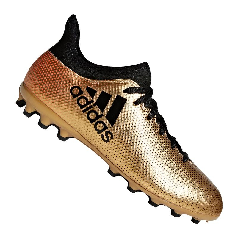 adidas X 17.3 AG J Kids Gold Schwarz - gold