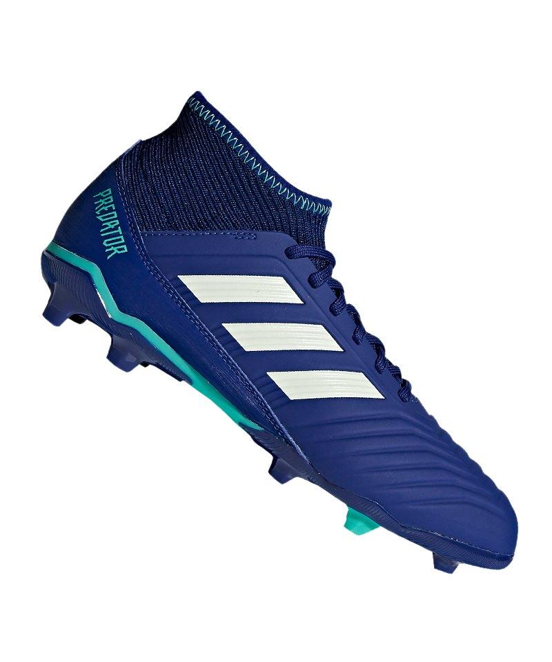 adidas Predator 18.3 FG J Kids Blau Grün - blau