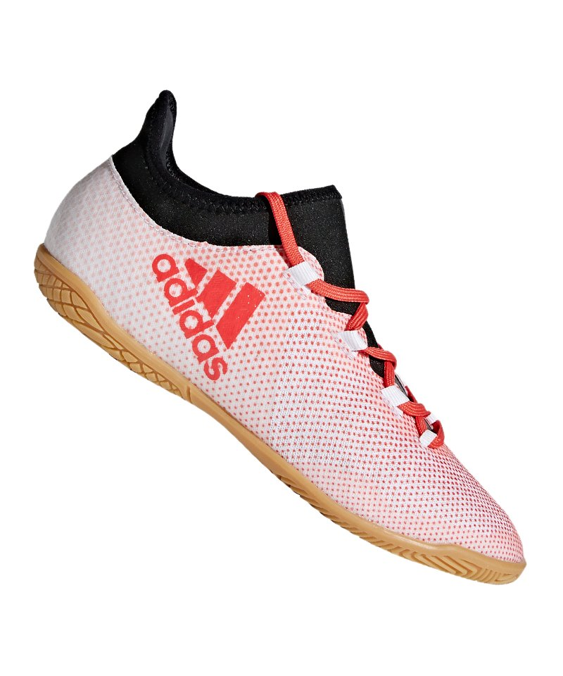 adidas X Tango 17.3 IN Halle J Kids Weiss Rot - weiss