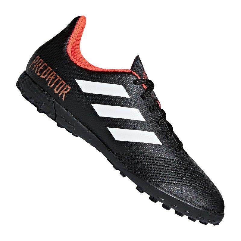 adidas Predator Tango 18.4 TF J Kids Schwarz Weiss - schwarz