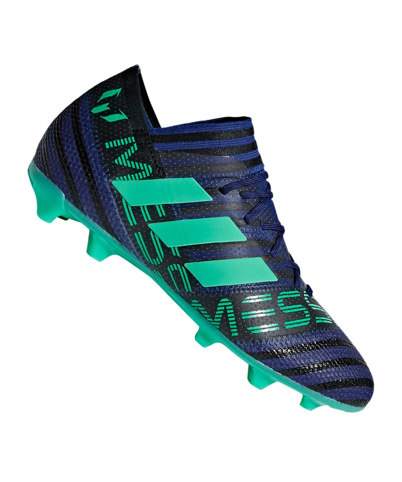 adidas NEMEZIZ Messi 17.1 FG J Kids Blau Grün - blau