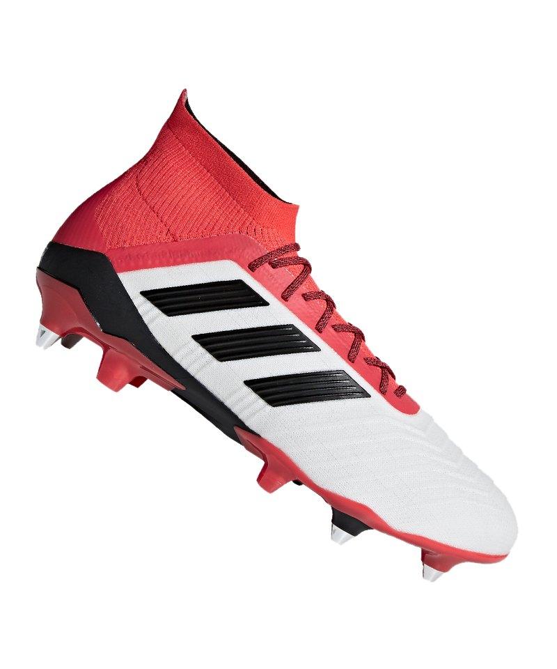 adidas Predator 18.1 SG Weiss Rot - weiss