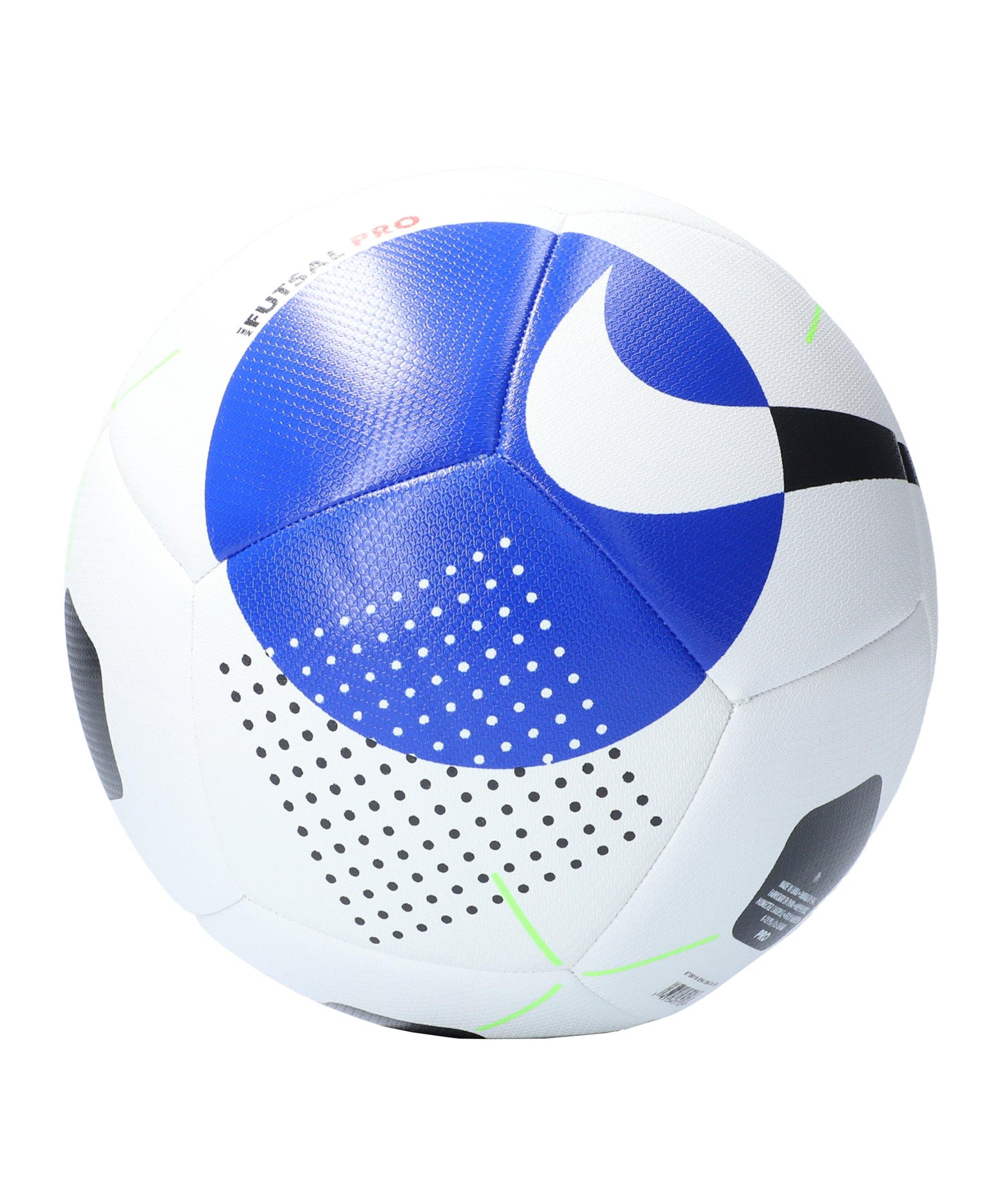 Nike Pro PROMO Futsalball Weiss Blau F100 - weiss