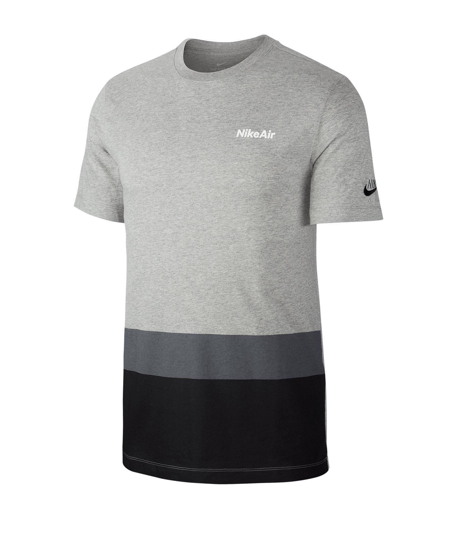 Nike Air Blocked Tee T-Shirt Grau F063 - grau