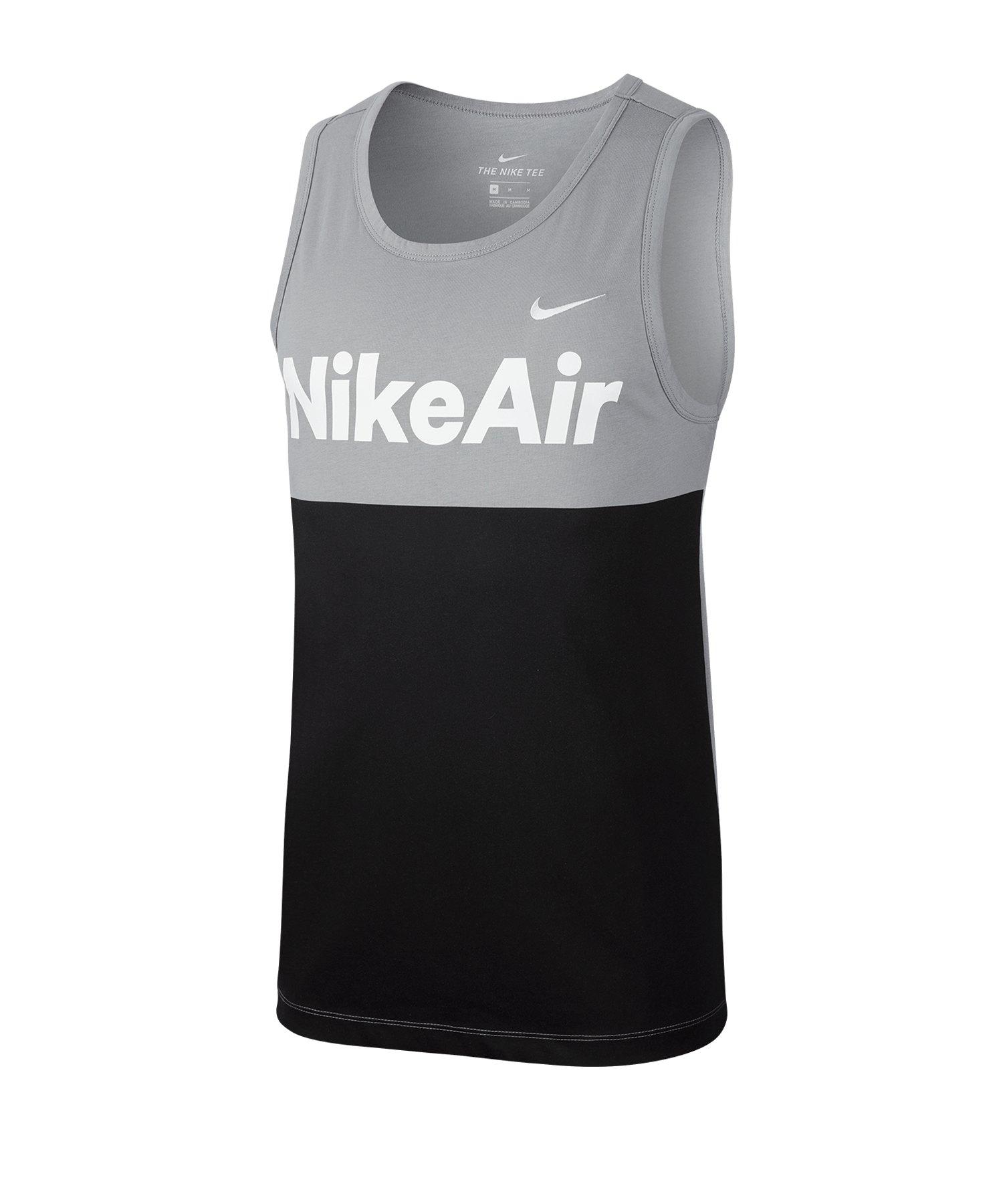 Nike Air Tanktop Schwarz Grau F073 - grau