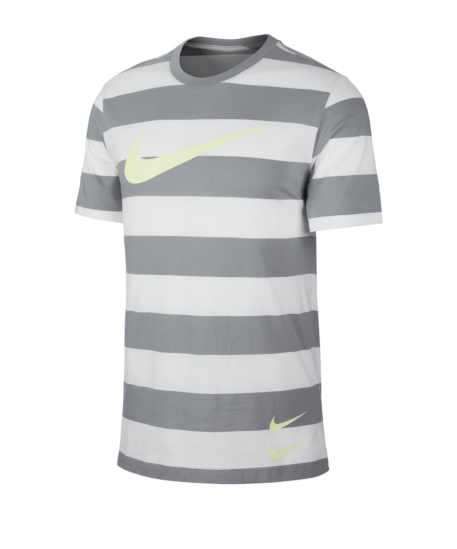 Nike Swoosh Stripe Tee T-Shirt Grau F073 - grau