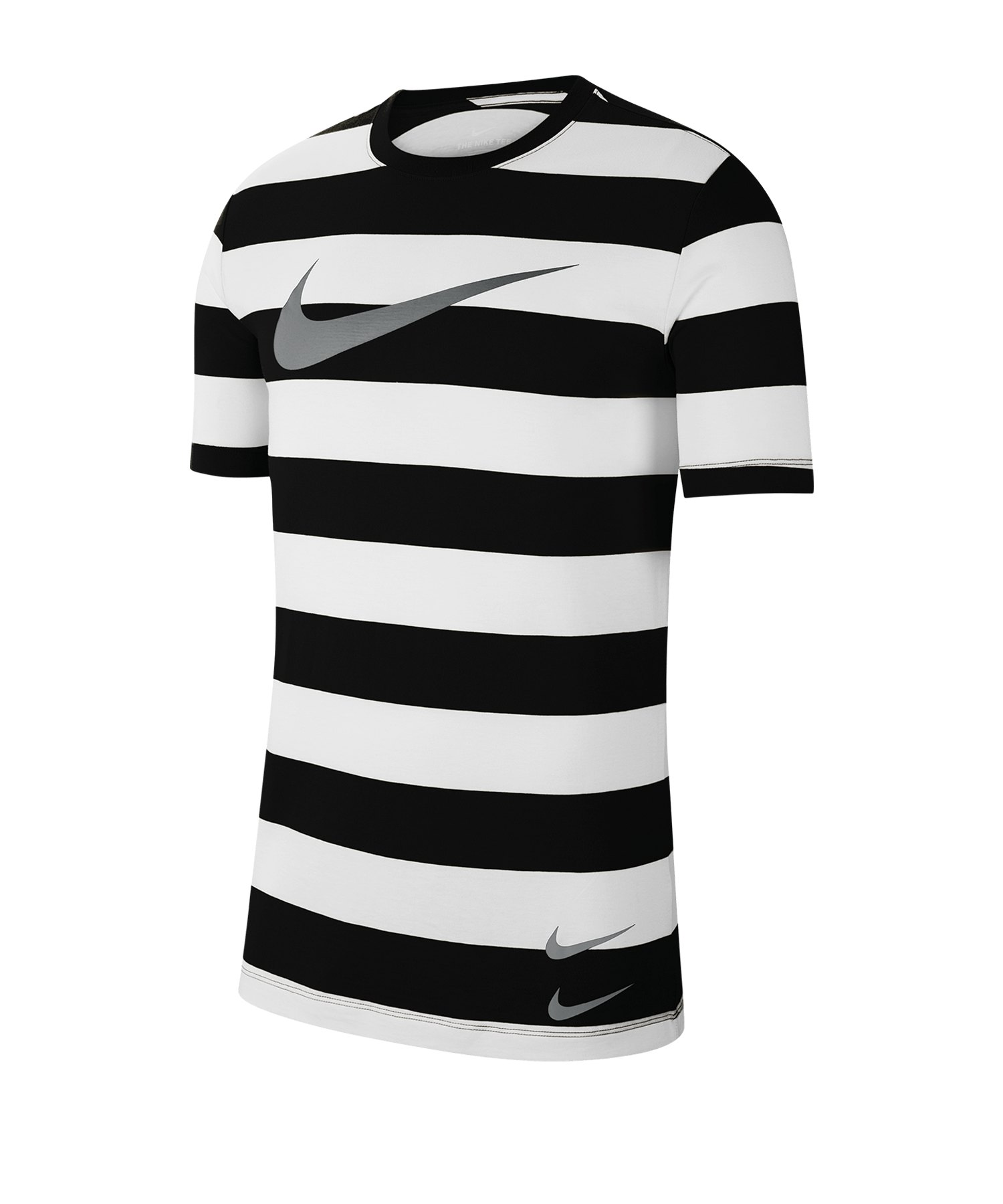 Nike Swoosh Stripe Tee T-Shirt Weiss F100 - weiss