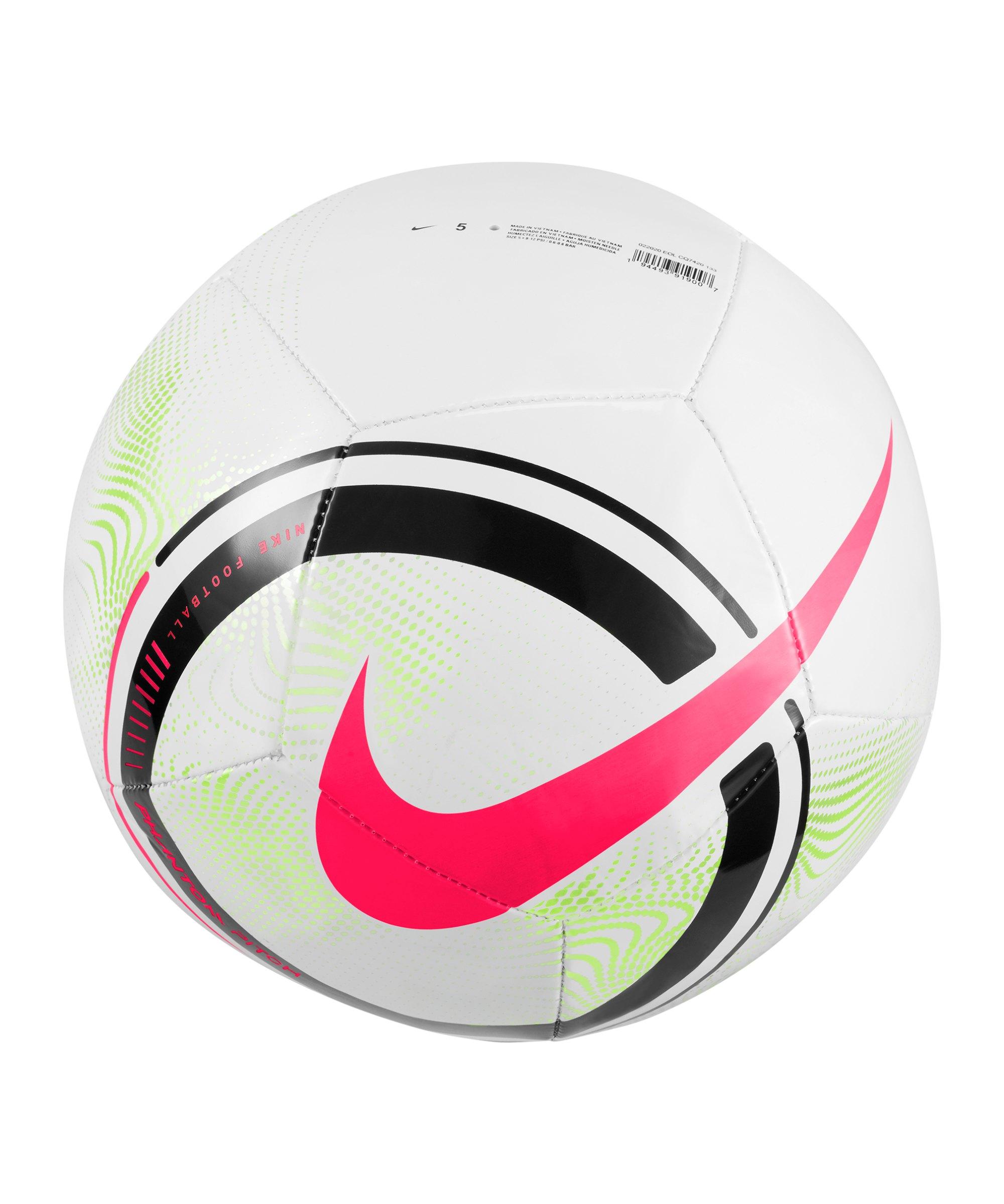 Nike Phantom Trainingsball Weiss Gelb F100 - weiss
