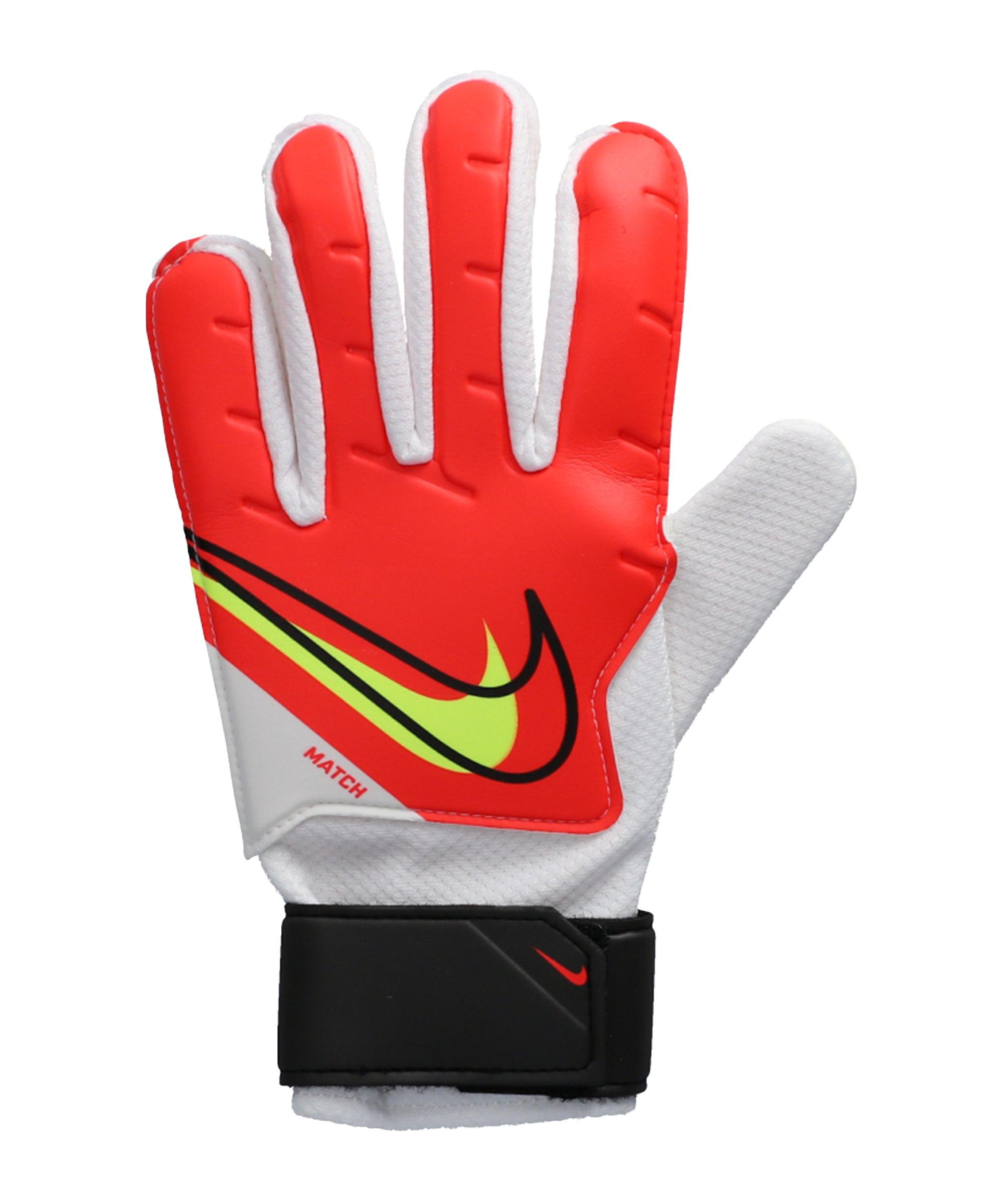 Nike Match Torwarthandschuh Rot Schwarz F636 - rot