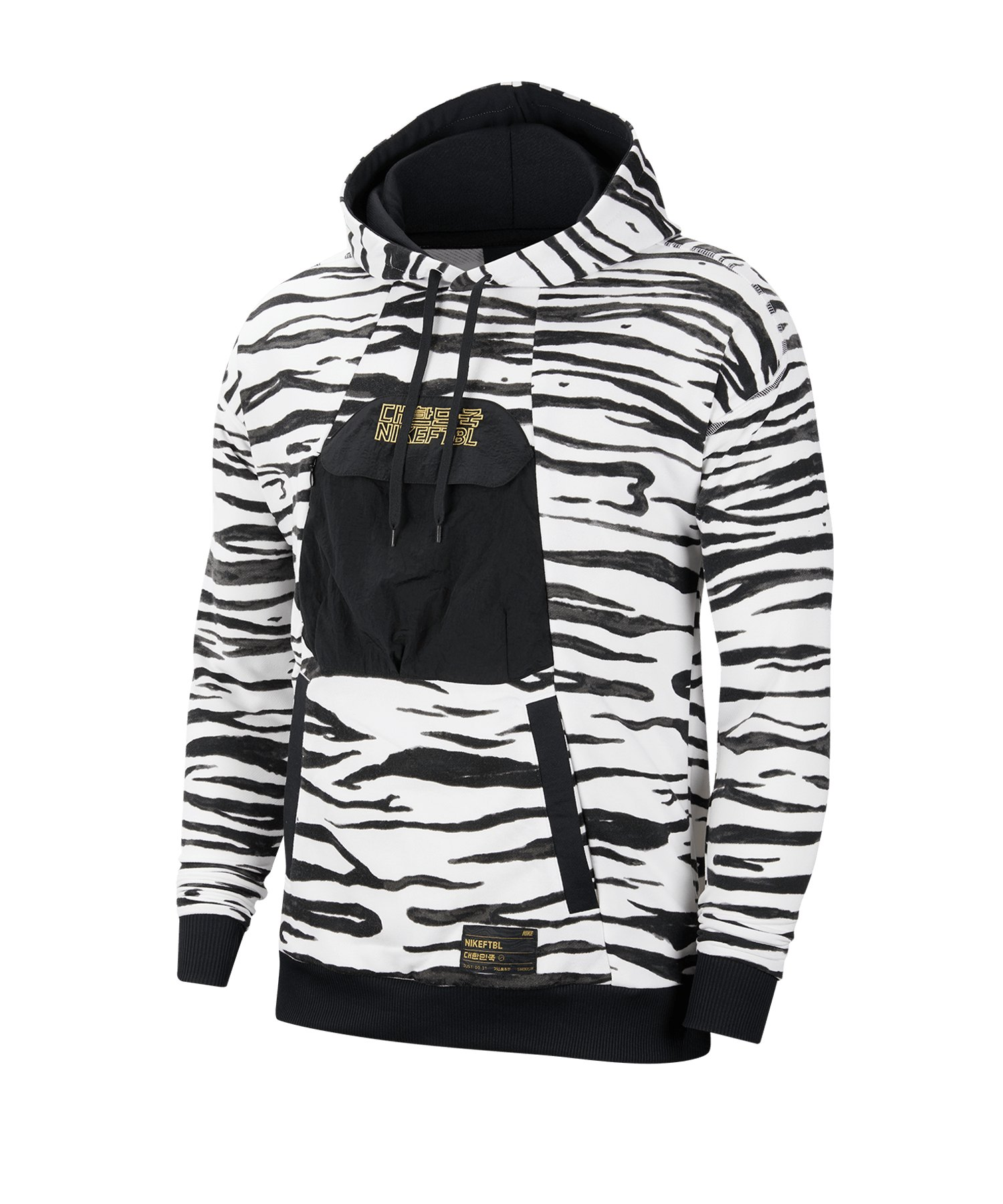 Nike Südkorea Kapuzensweatshirt Weiss Schwarz F100 - weiss