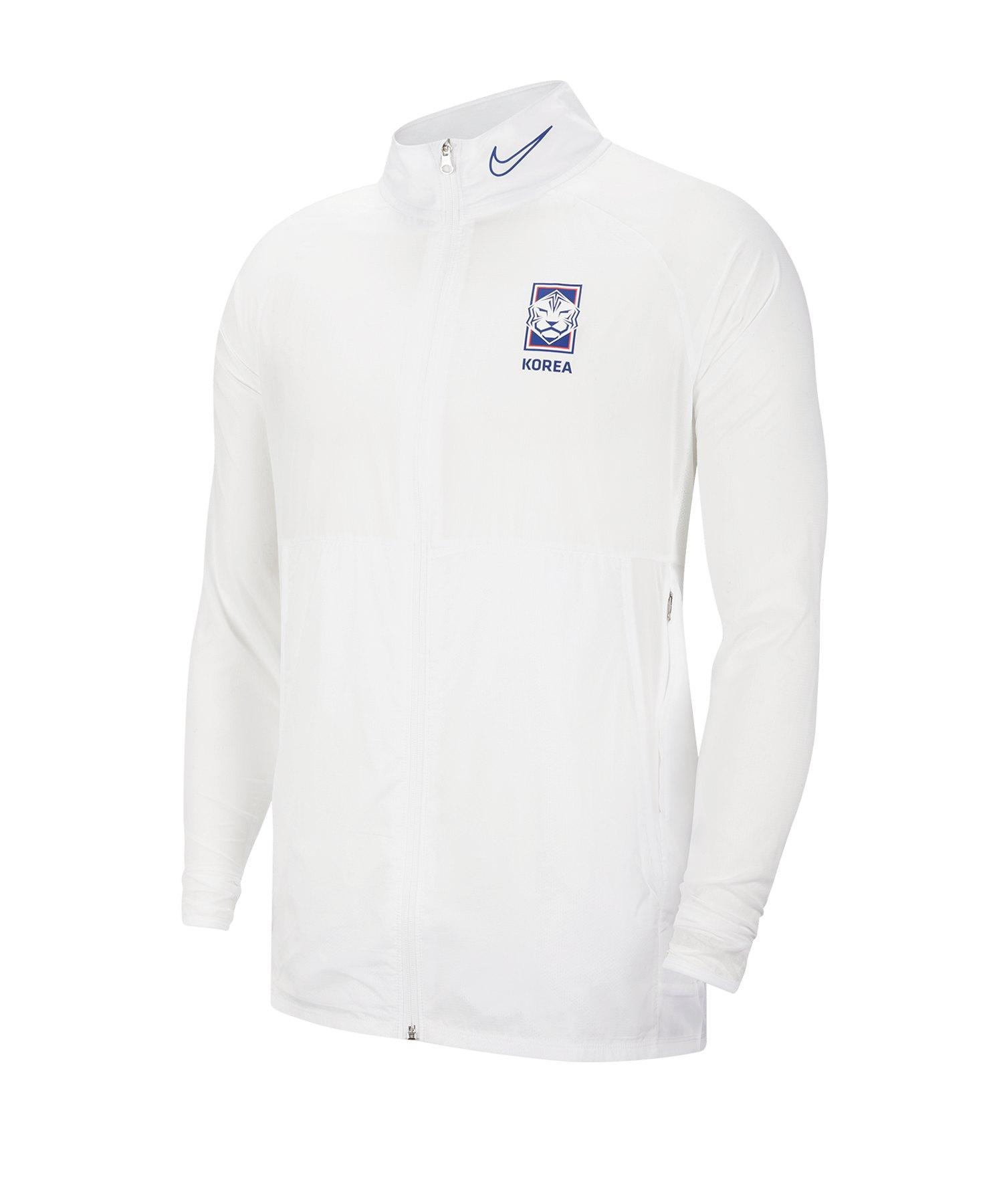 Nike Südkorea Academy Jacket Jacke Weiss F100 - weiss
