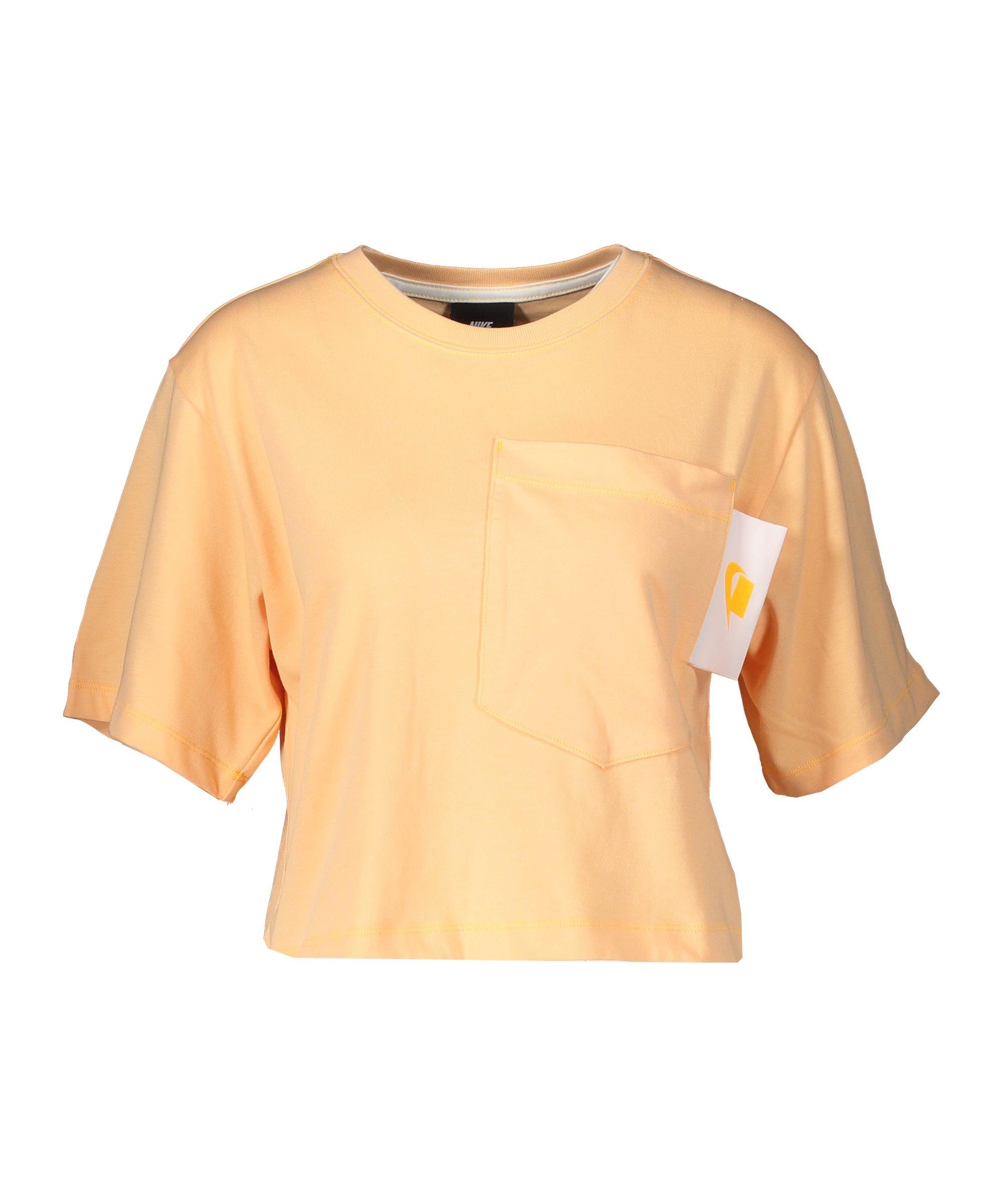 Nike Crop T-Shirt Damen Gelb F714 - gelb