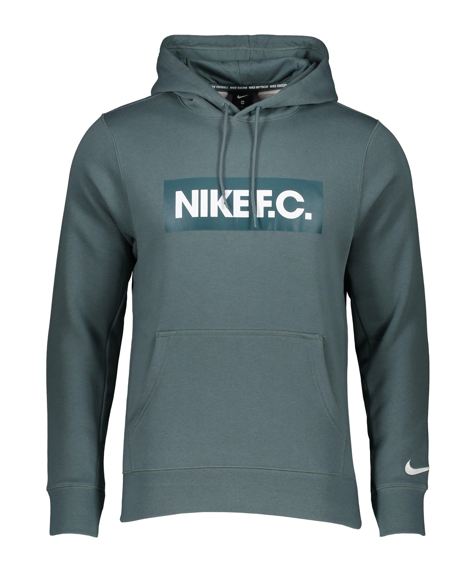 Nike F.C. Fleece Hoody Grün F387 - gruen