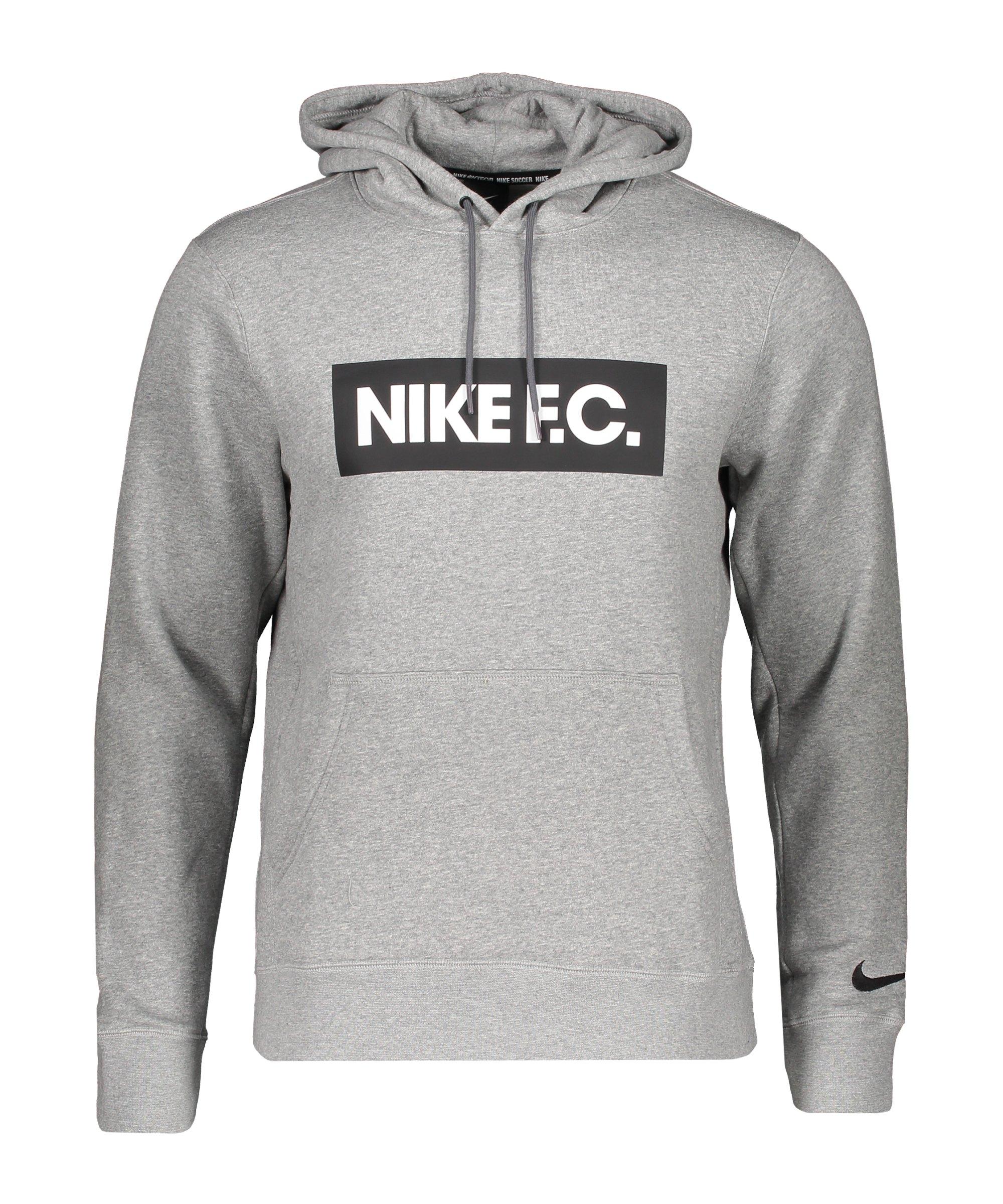 Nike F.C. Fleece Kapuzensweatshirt Grau F021 - grau