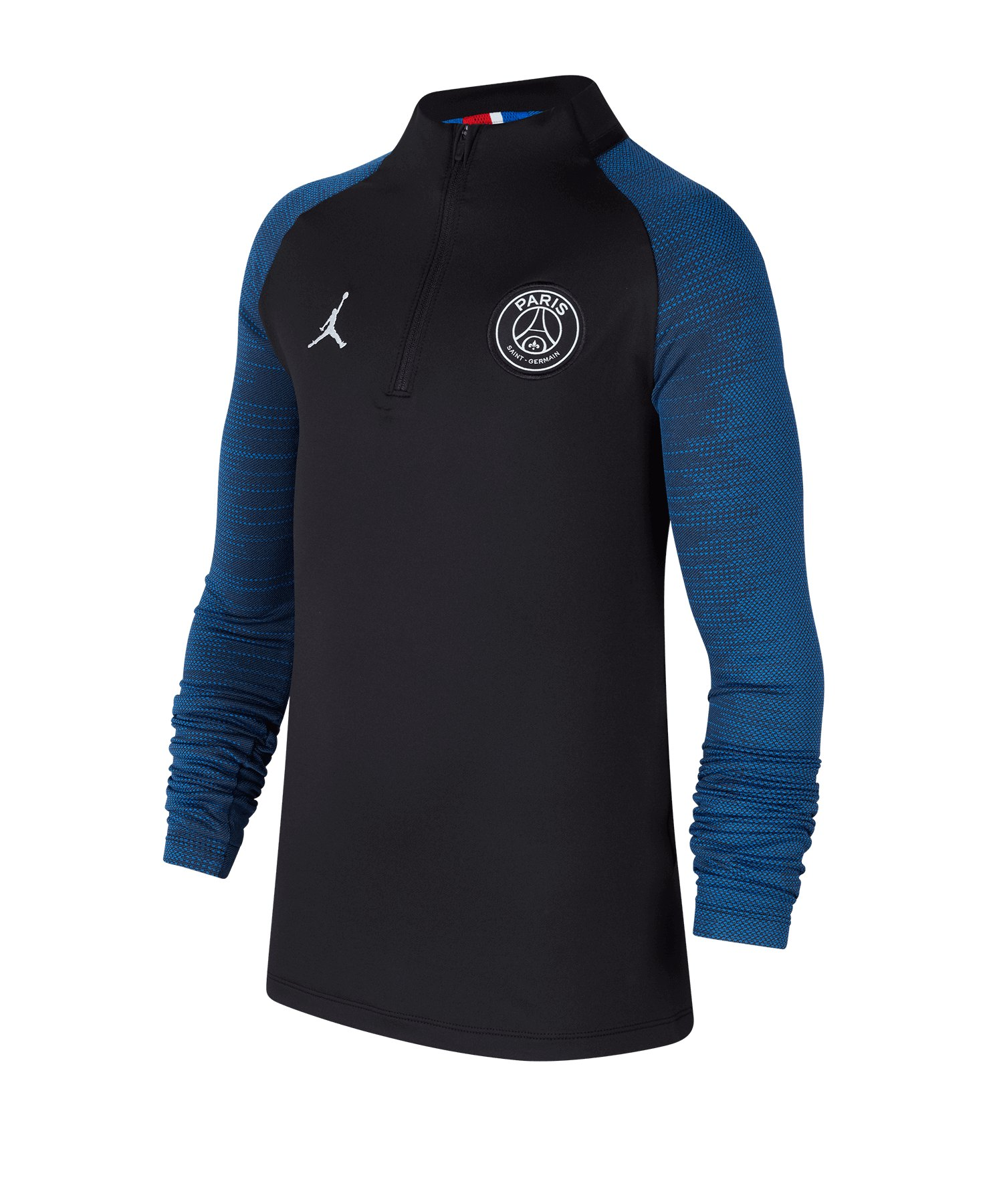 Jordan Paris St. Germain 1/4 Zip Shirt Kids F010 - schwarz