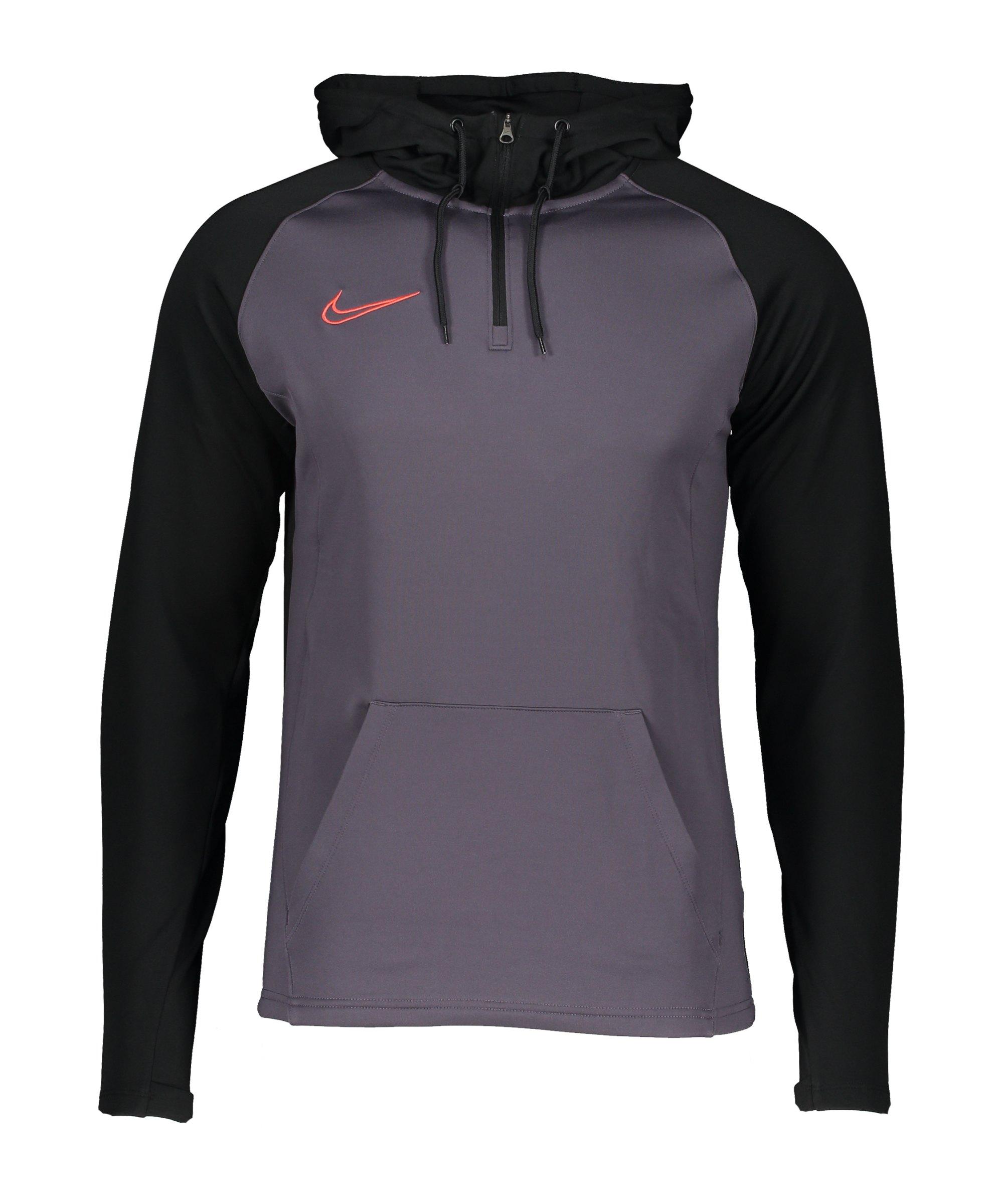 Nike Dry Academy Drill Hoody Lila Schwarz F573 - lila