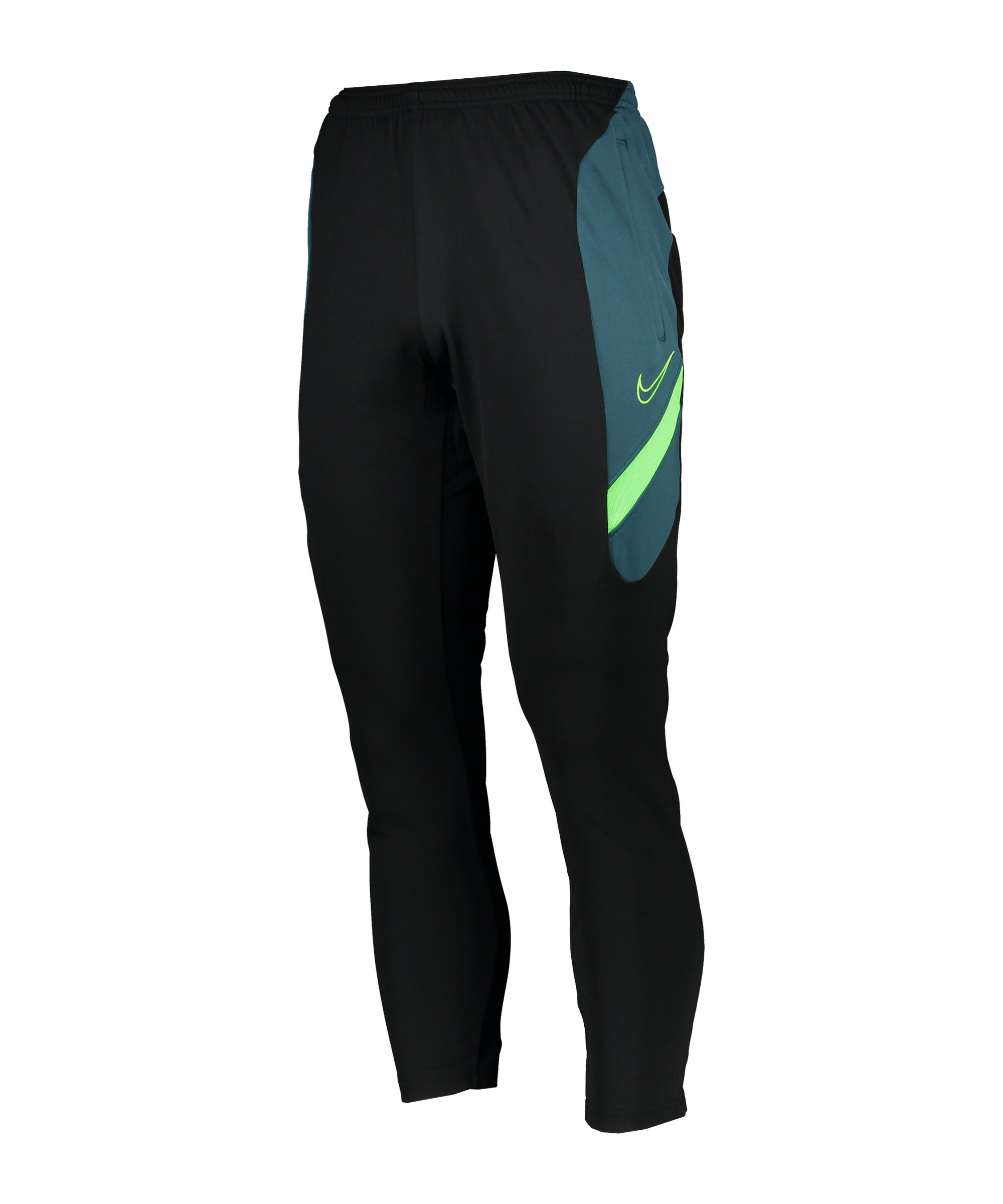 Nike Dry Academy Trainingshose Schwarz Grün F015 - schwarz