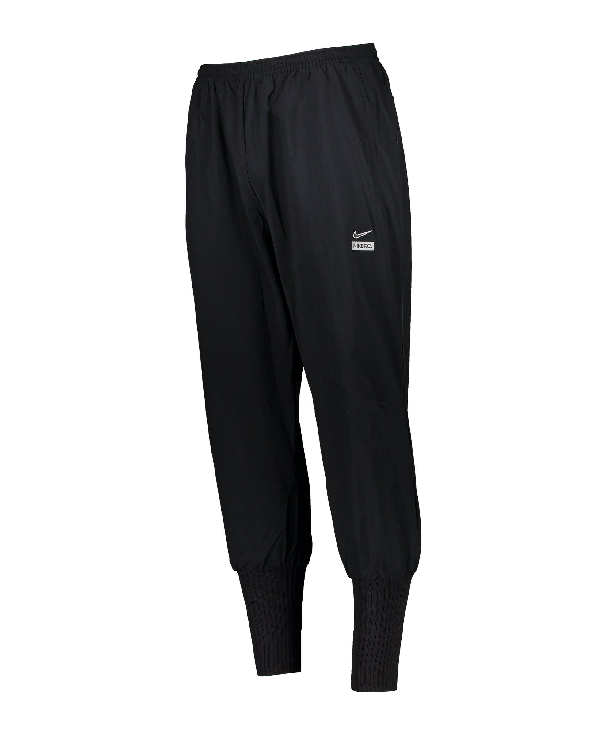 Nike F.C. Woven Cuffed Jogginghose Schwarz F010 - schwarz