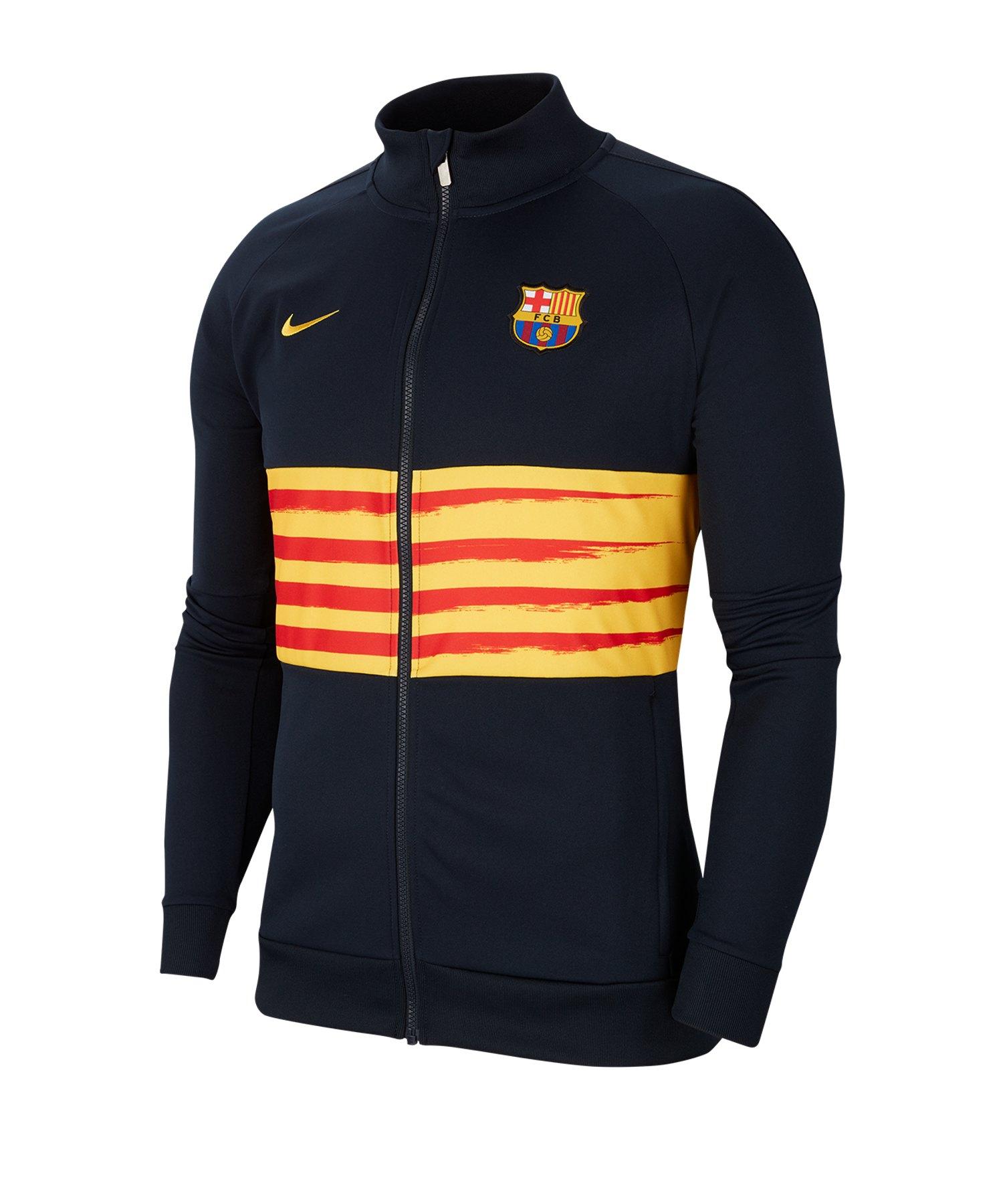Nike FC Barcelona I96 Jacket Jacke Kids Blau F475 - blau