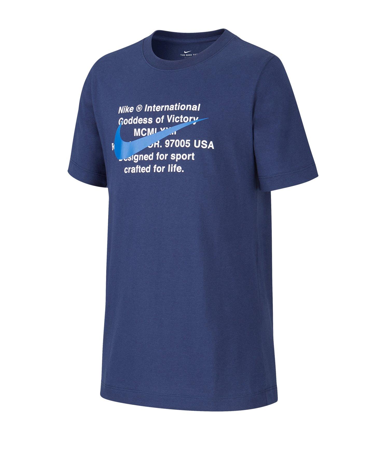 Nike T-Shirt Kids Blau F410 - blau