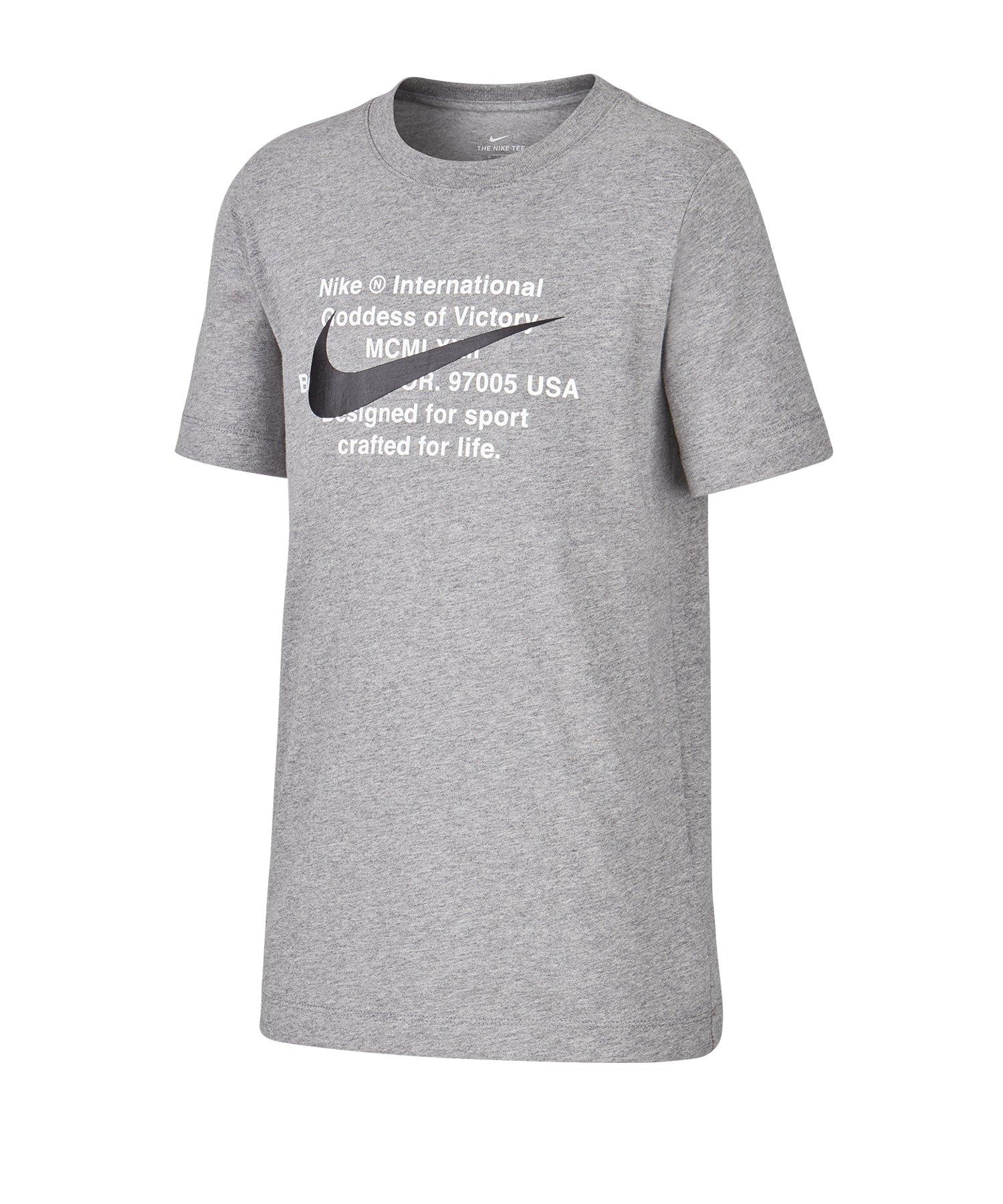 Nike T-Shirt Kids Grau F091 - grau