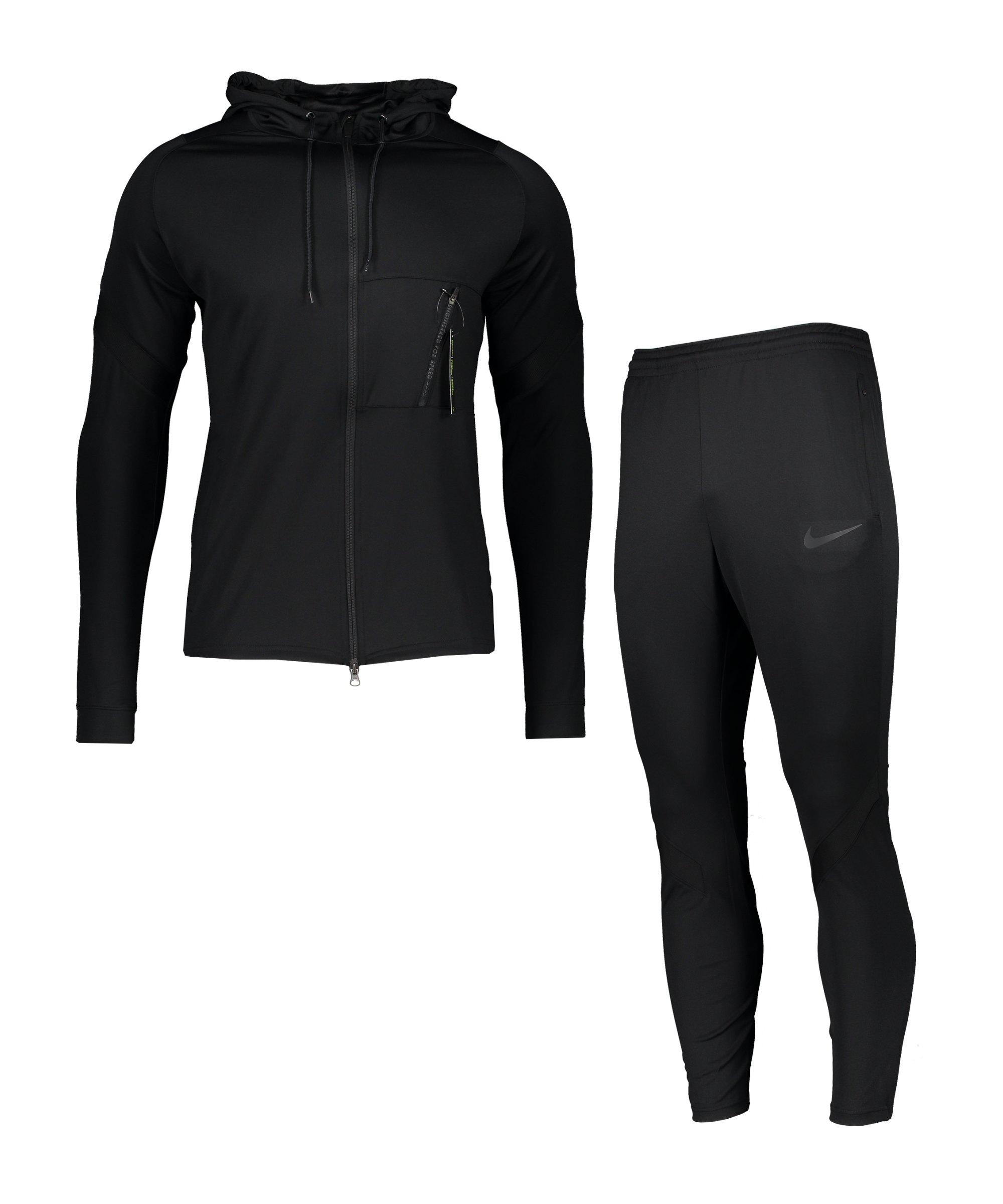 Nike Dry Strike Trainingsanzug Schwarz F011 - schwarz