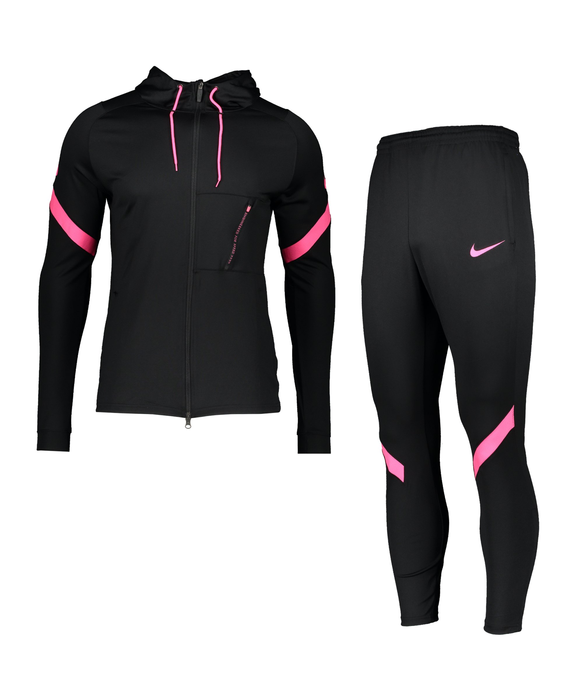 Nike Dry Strike Trainingsanzug Schwarz F013 - schwarz