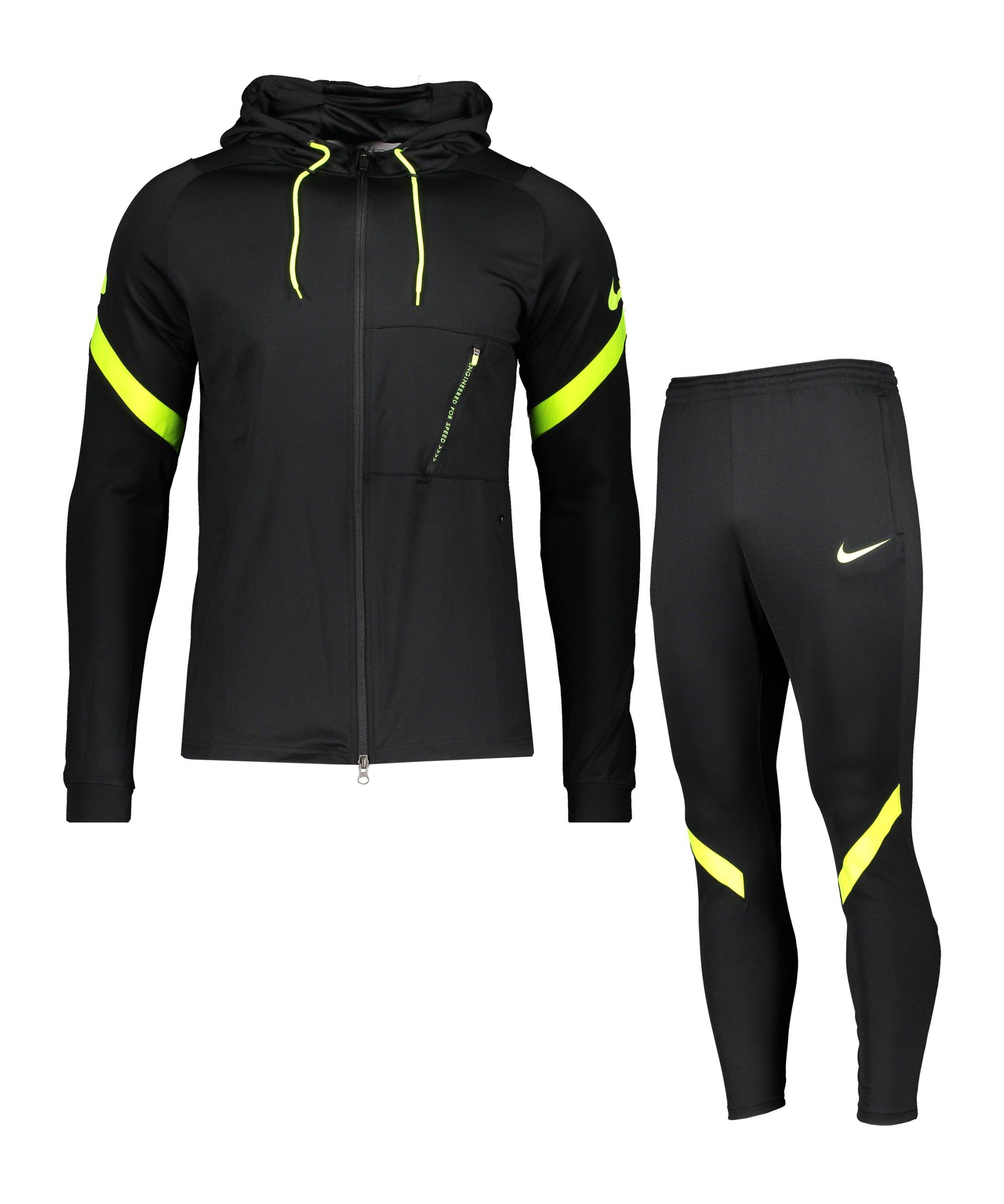 Nike Dry Strike Trainingsanzug Schwarz F014 - schwarz