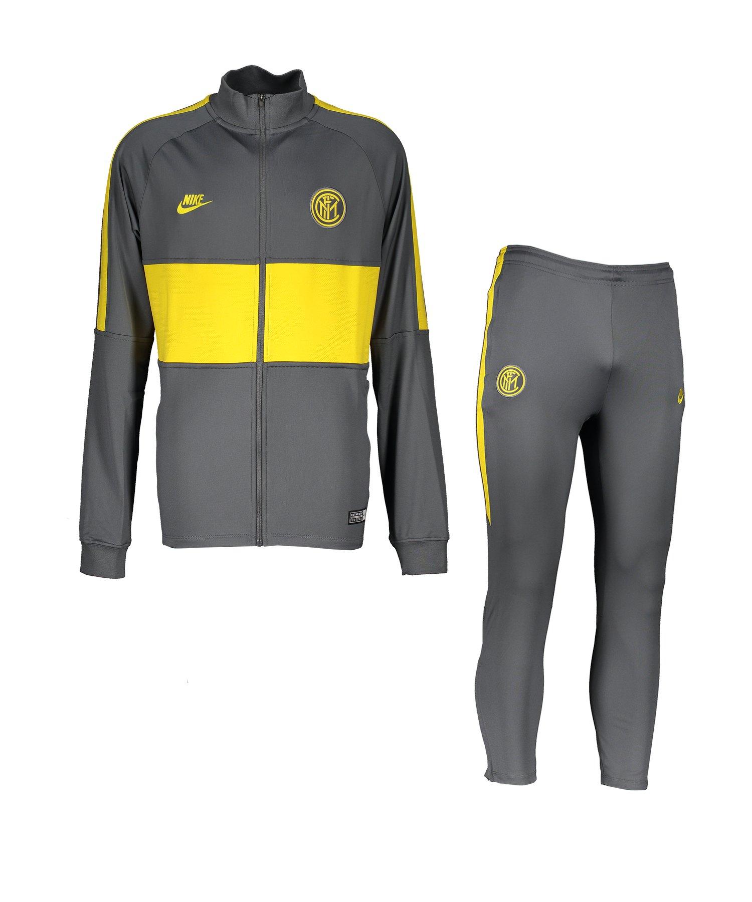 Nike Inter Mailand Trainingsanzug Kids Grau F021 - grau