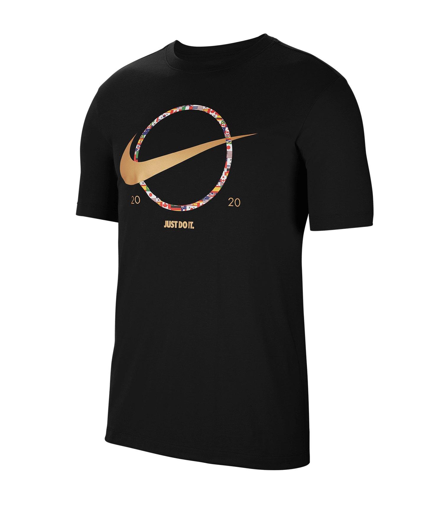 Nike Swoosh Preheat Tee T-Shirt Schwarz F010 - schwarz