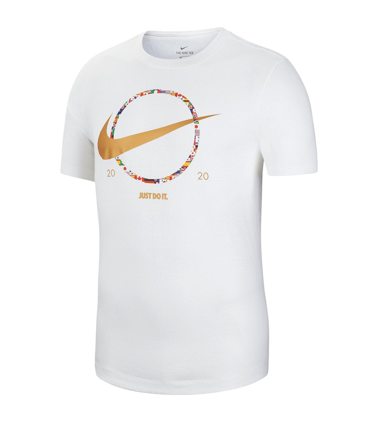 Nike Swoosh Preheat Tee T-Shirt Weiss F100 - weiss