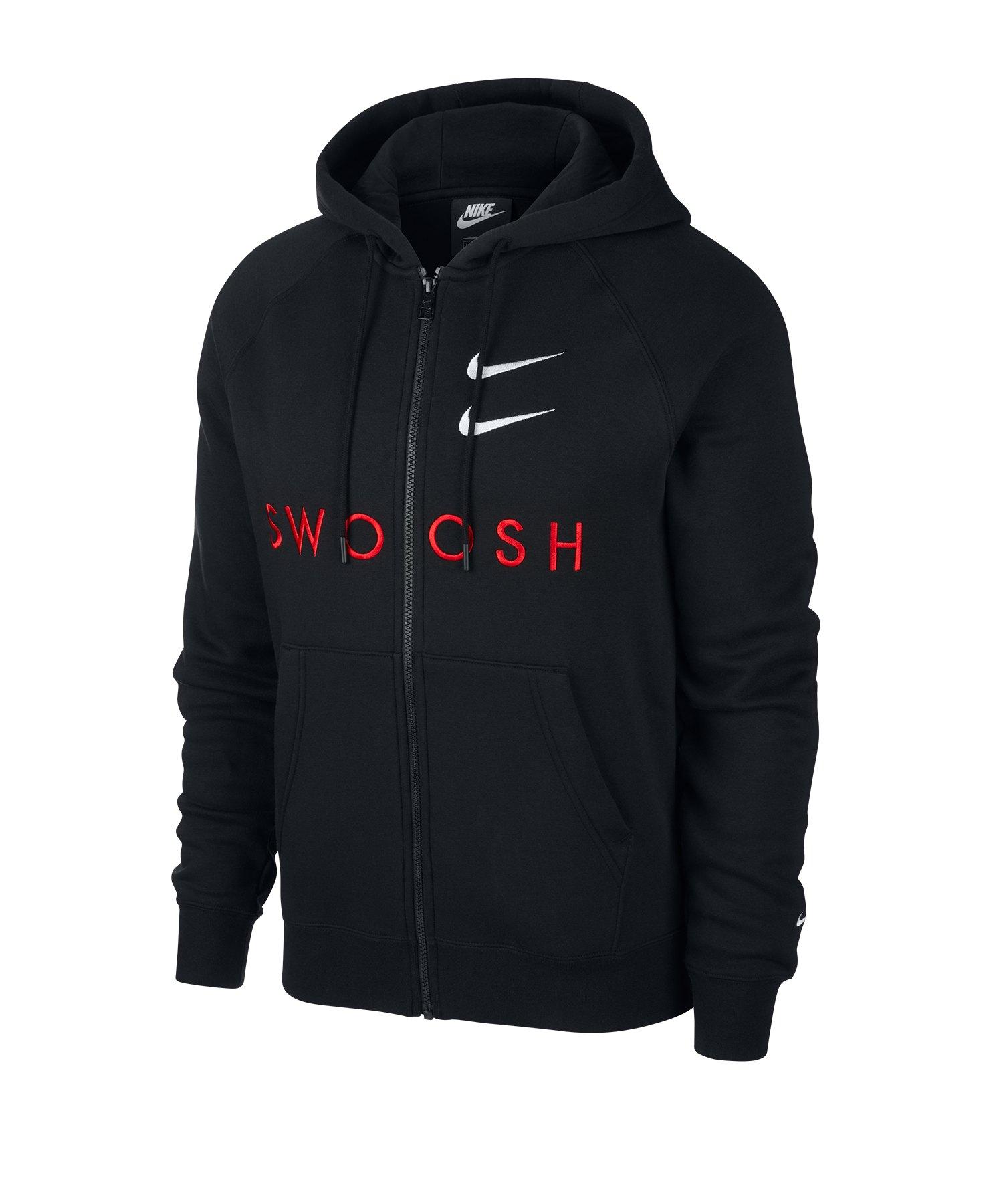 Nike Swoosh Kapuzenjacke Schwarz F010 - schwarz