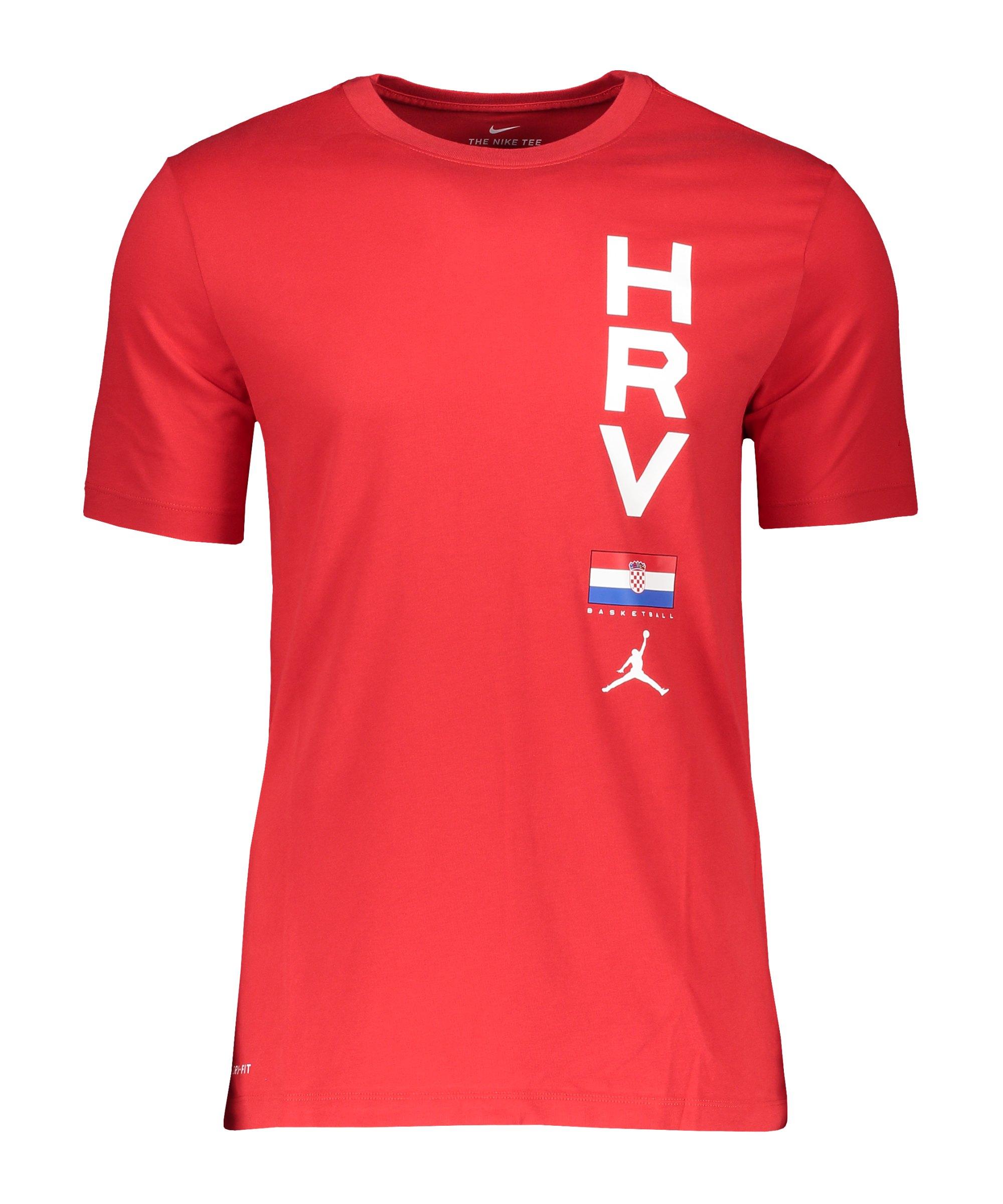 Nike Kroatien Dry Tee T-Shirt Basketball F419 - rot