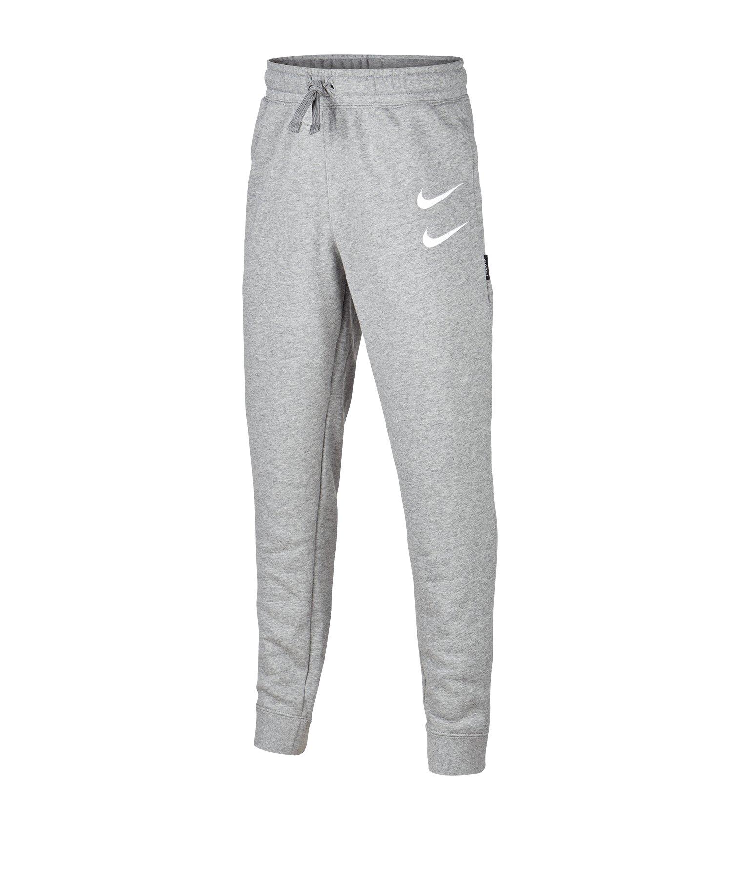 Nike Swoosh Pants Hose lang Kids Grau F091 - grau