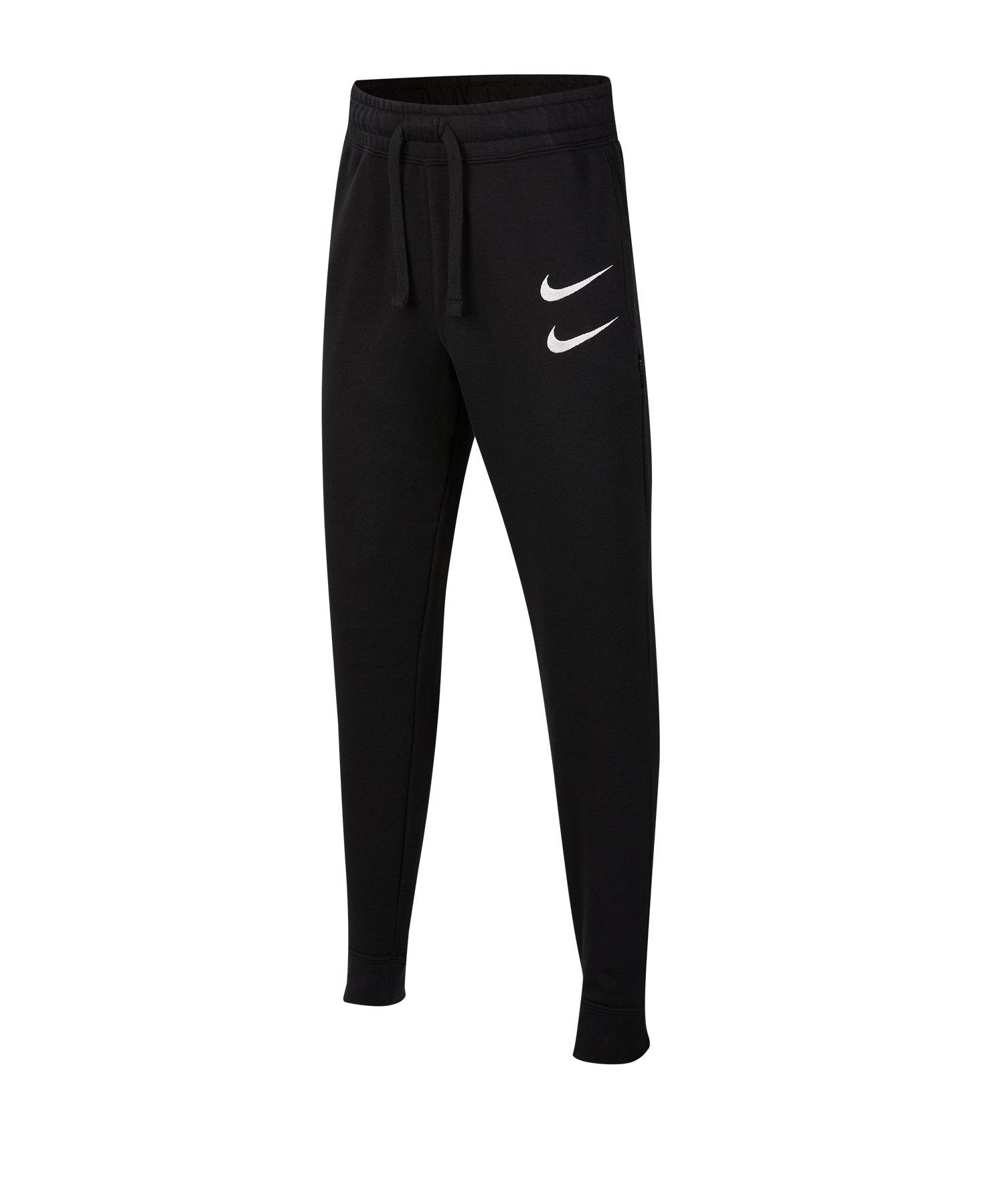 Nike Swoosh Pants Hose lang Kids Schwarz F010 - schwarz