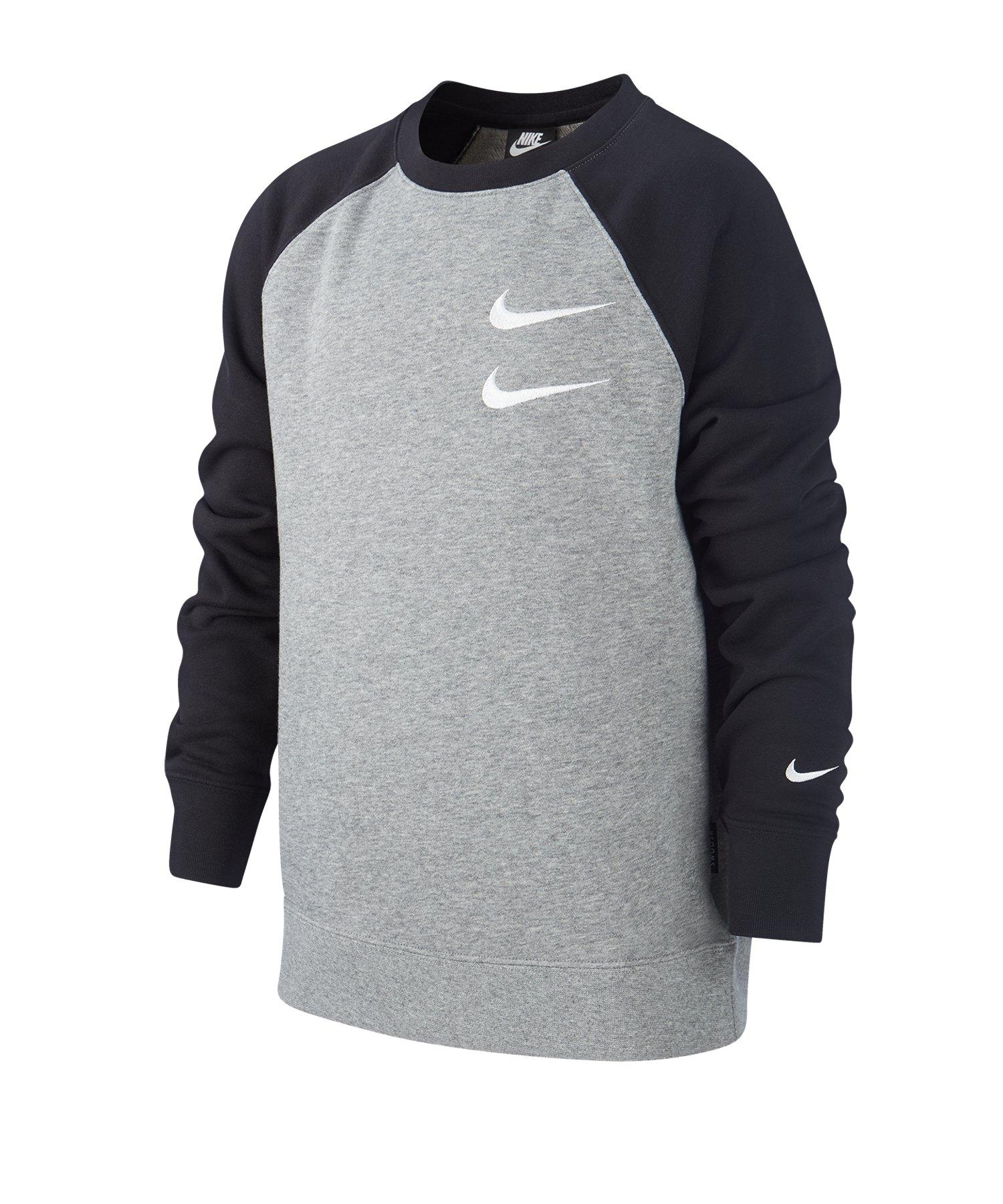 Nike Swoosh Crew Sweatshirt Kids Grau F091 - grau