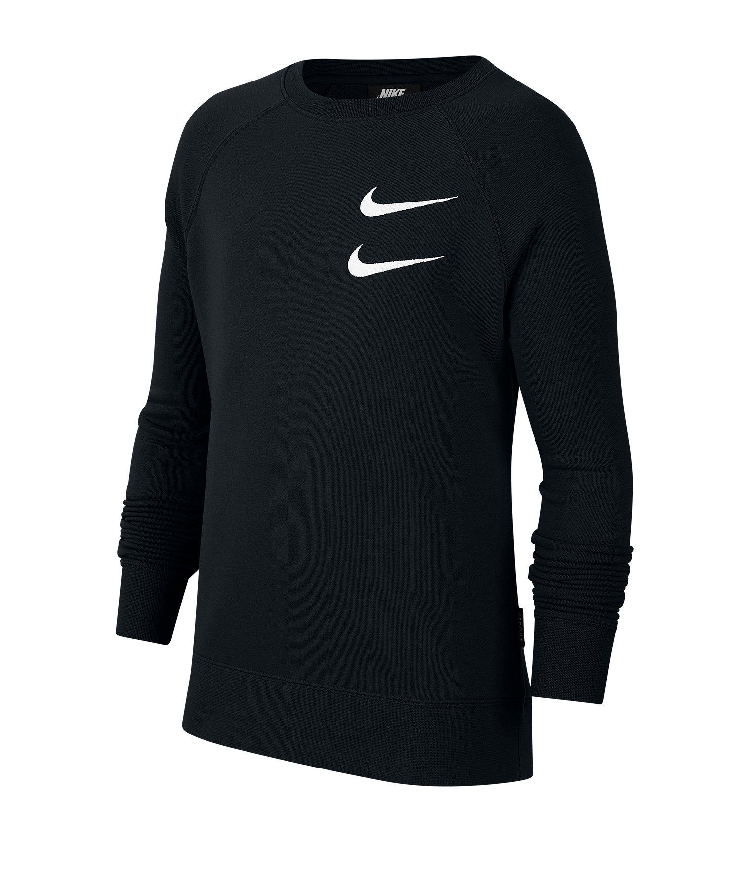 Nike Swoosh Crew Sweatshirt Kids Schwarz F010 - schwarz