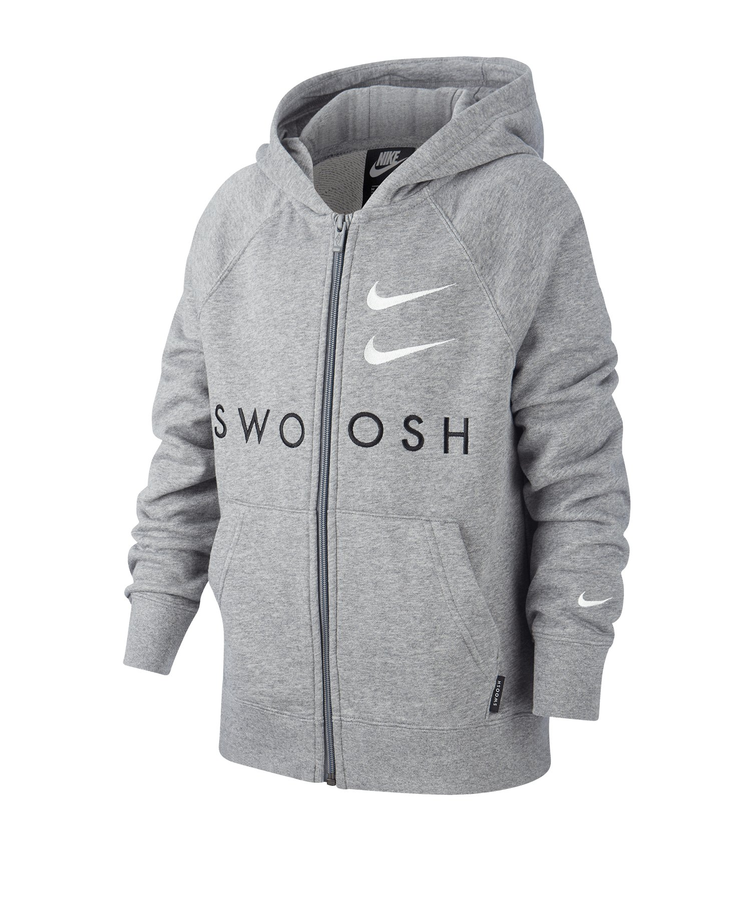 Nike Swoosh Kapuzenjacke Kids Grau F091 - grau