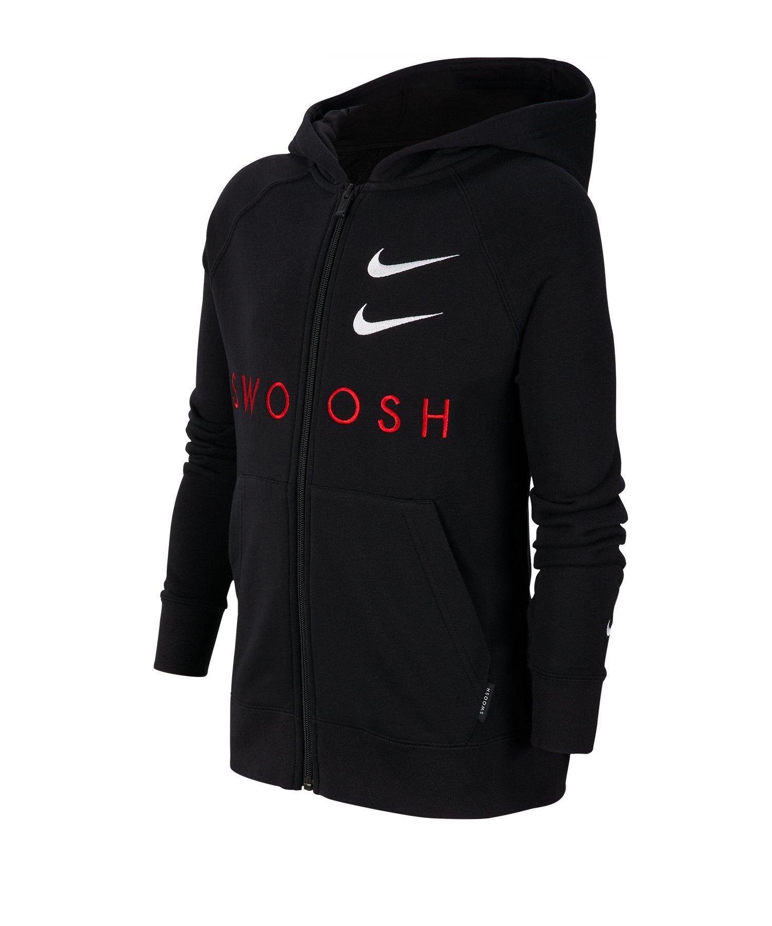 Nike Swoosh Kapuzenjacke Kids Schwarz F010 - schwarz