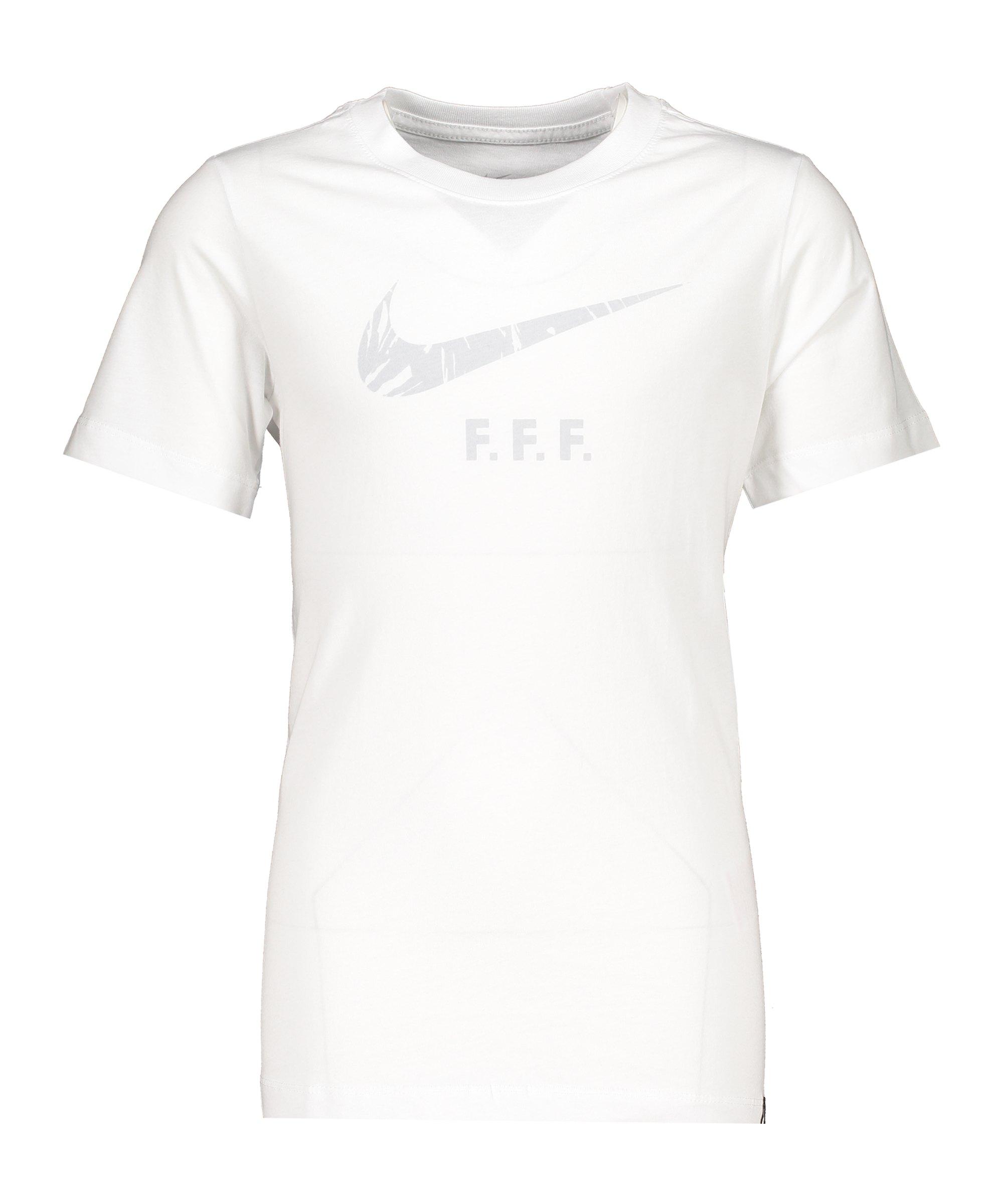 Nike Frankreich Ground Tee T-Shirt Kids Weiss F100 - weiss